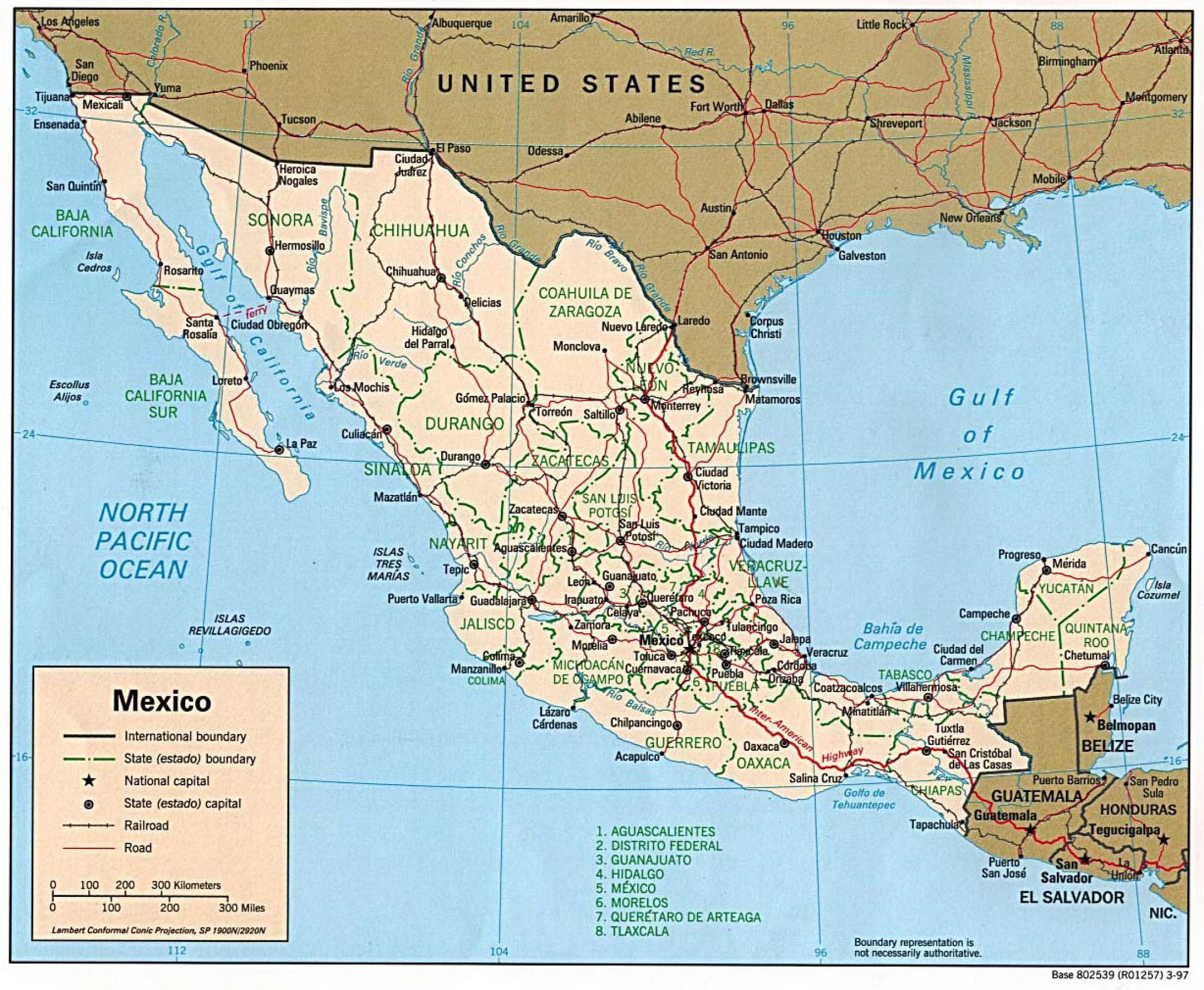 mapa de mexico ~ online map