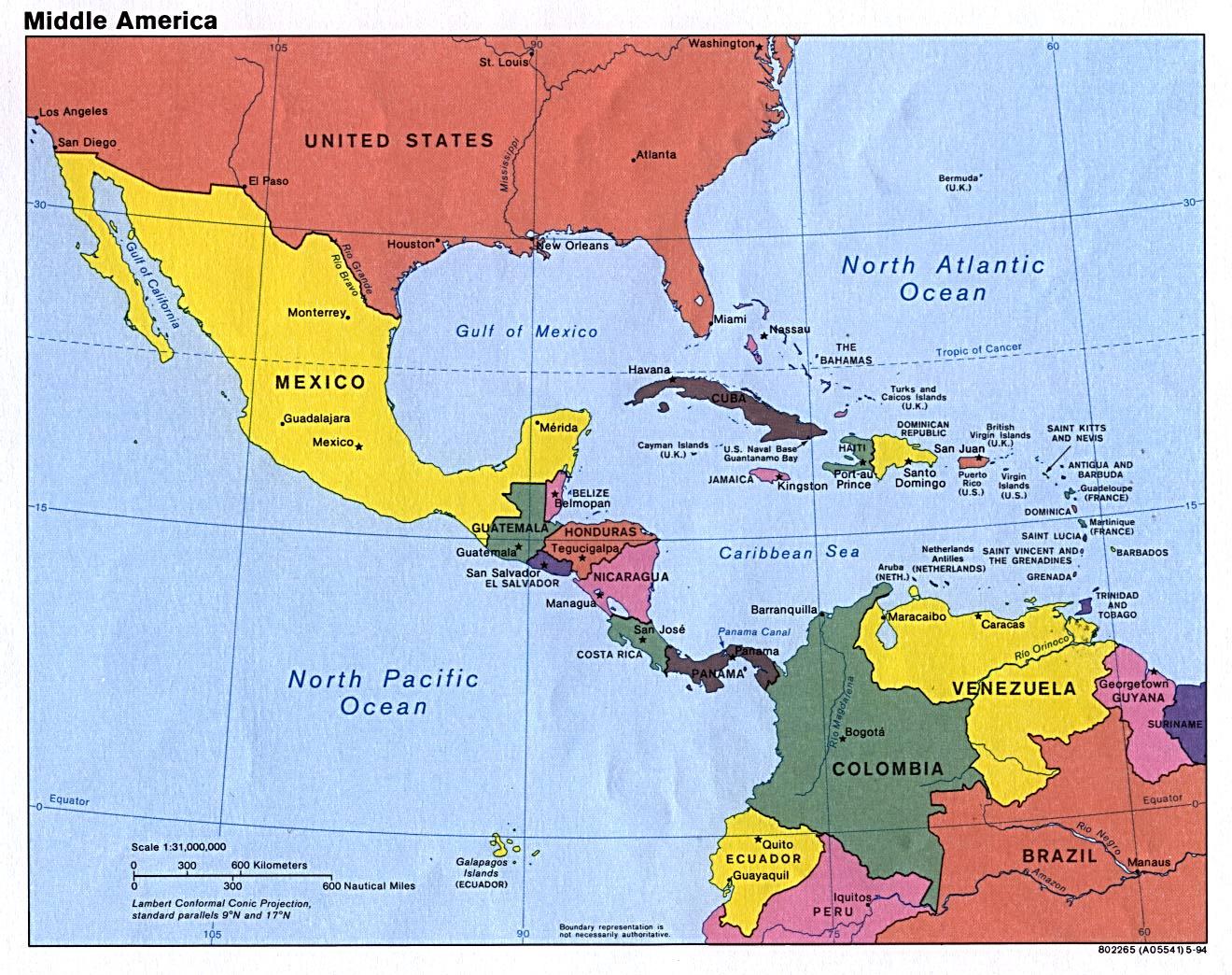 1994 in Central America