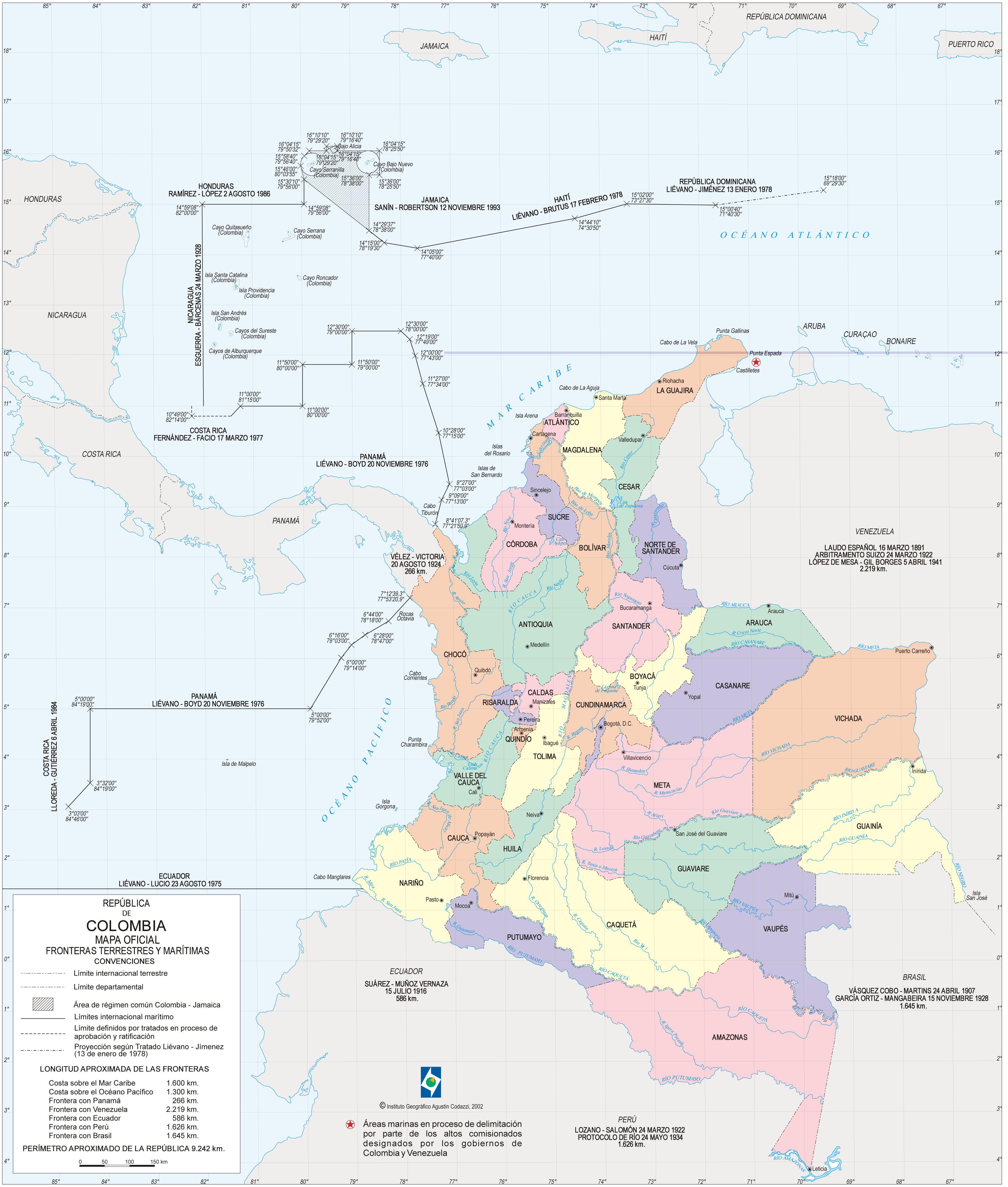 Mapa de Boyaca Colombia Mapa de Colombia 2002