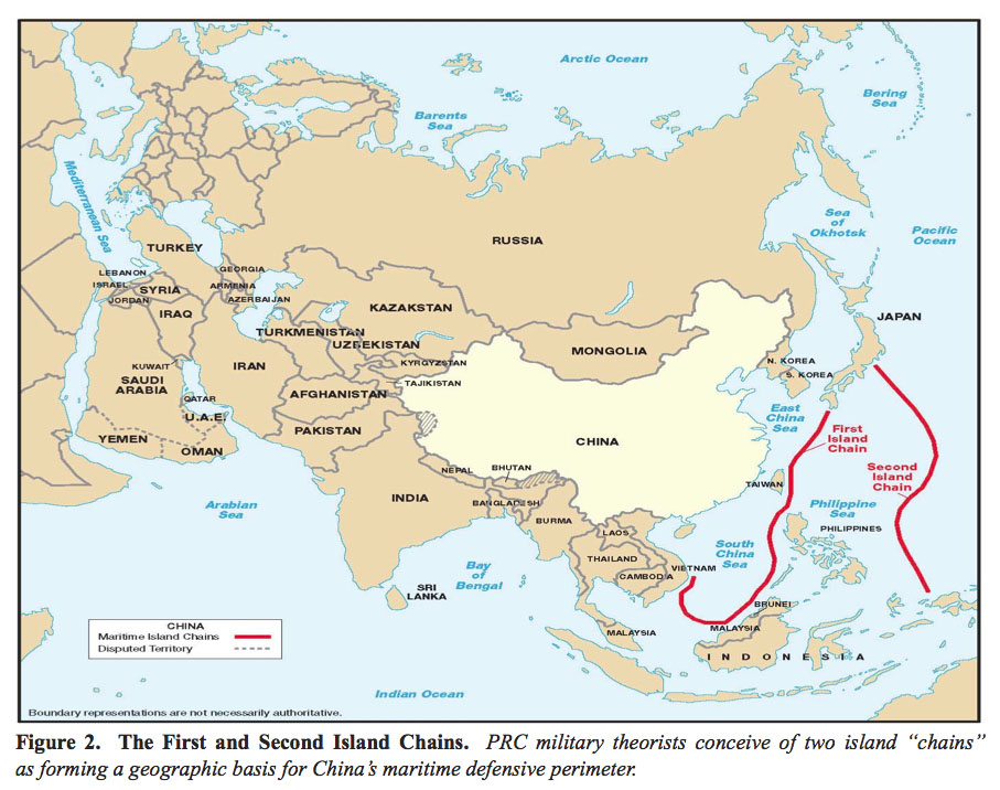China's Maritime Defensive Perimeter 2007 - Full size