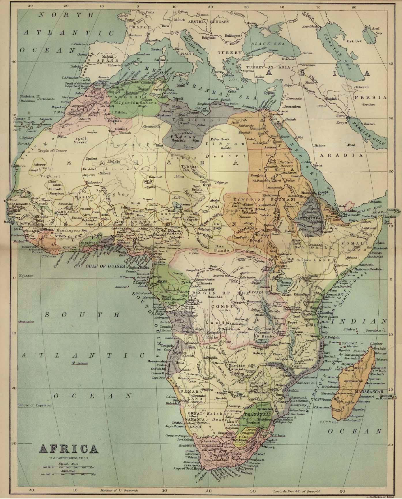 Africa, antes del reparto colonial