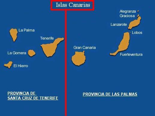 Tamaño Islas Canarias de Las Islas Canarias