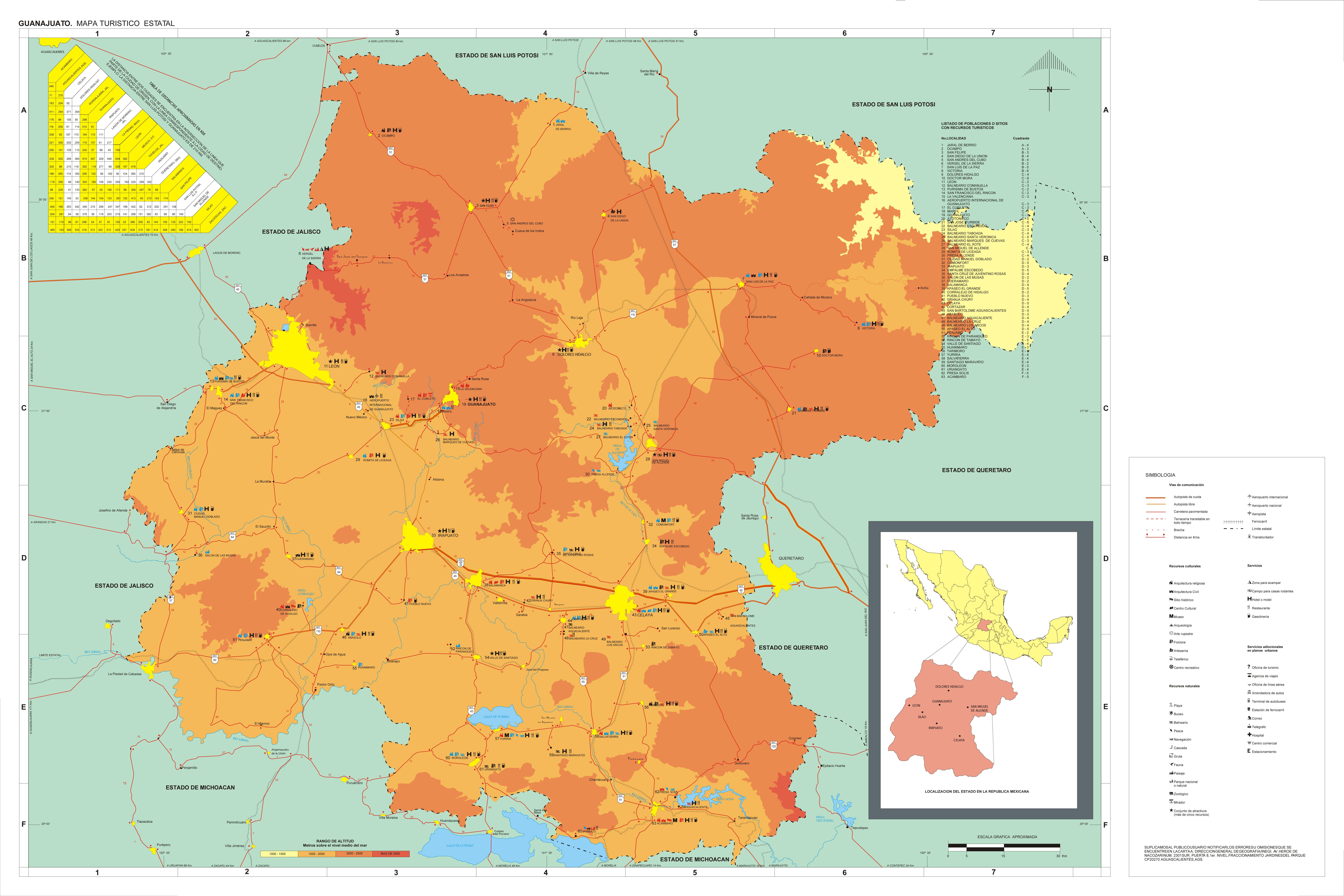 Mapa de La Paz - Tamaño completo