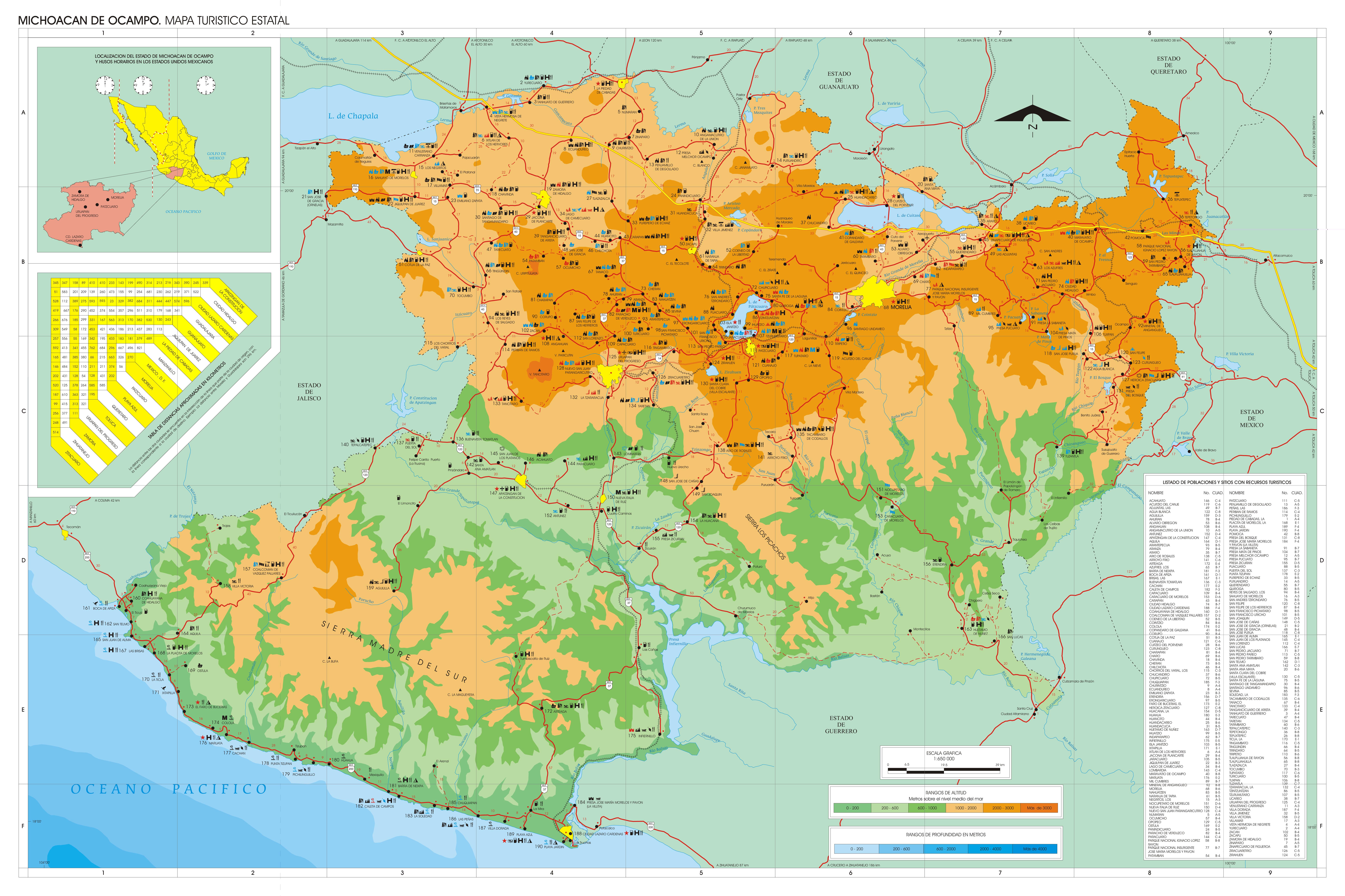 morelia mexico map with Map Of Michoacan on 16125123 further Mapa Gps De Sinaloa in addition Mexico City Map moreover Arco Norte El Mejor Atajo Para No Atravesar La Ciudad De Mexico likewise 4974274463.