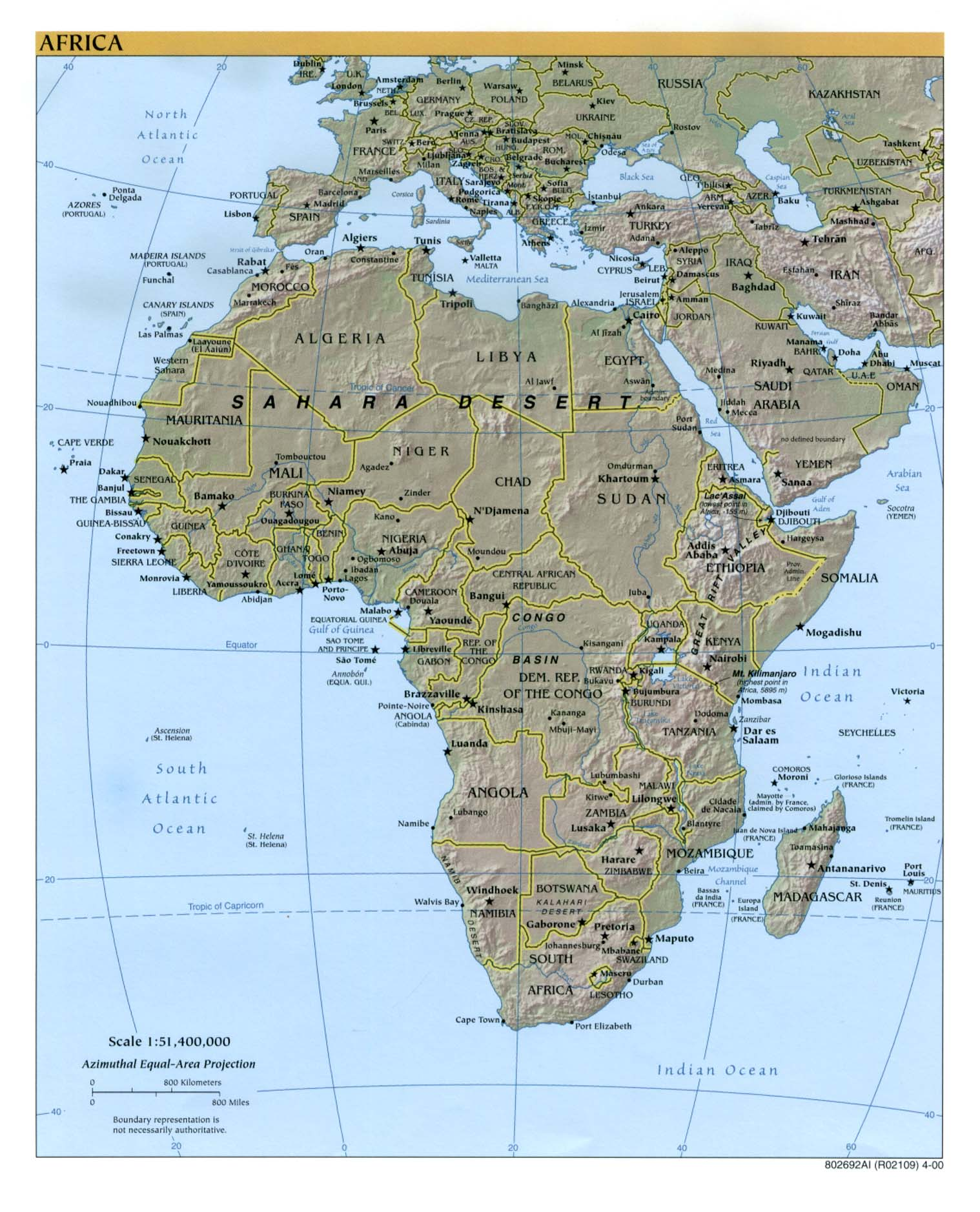 africa map physical features 42 images satellite map of