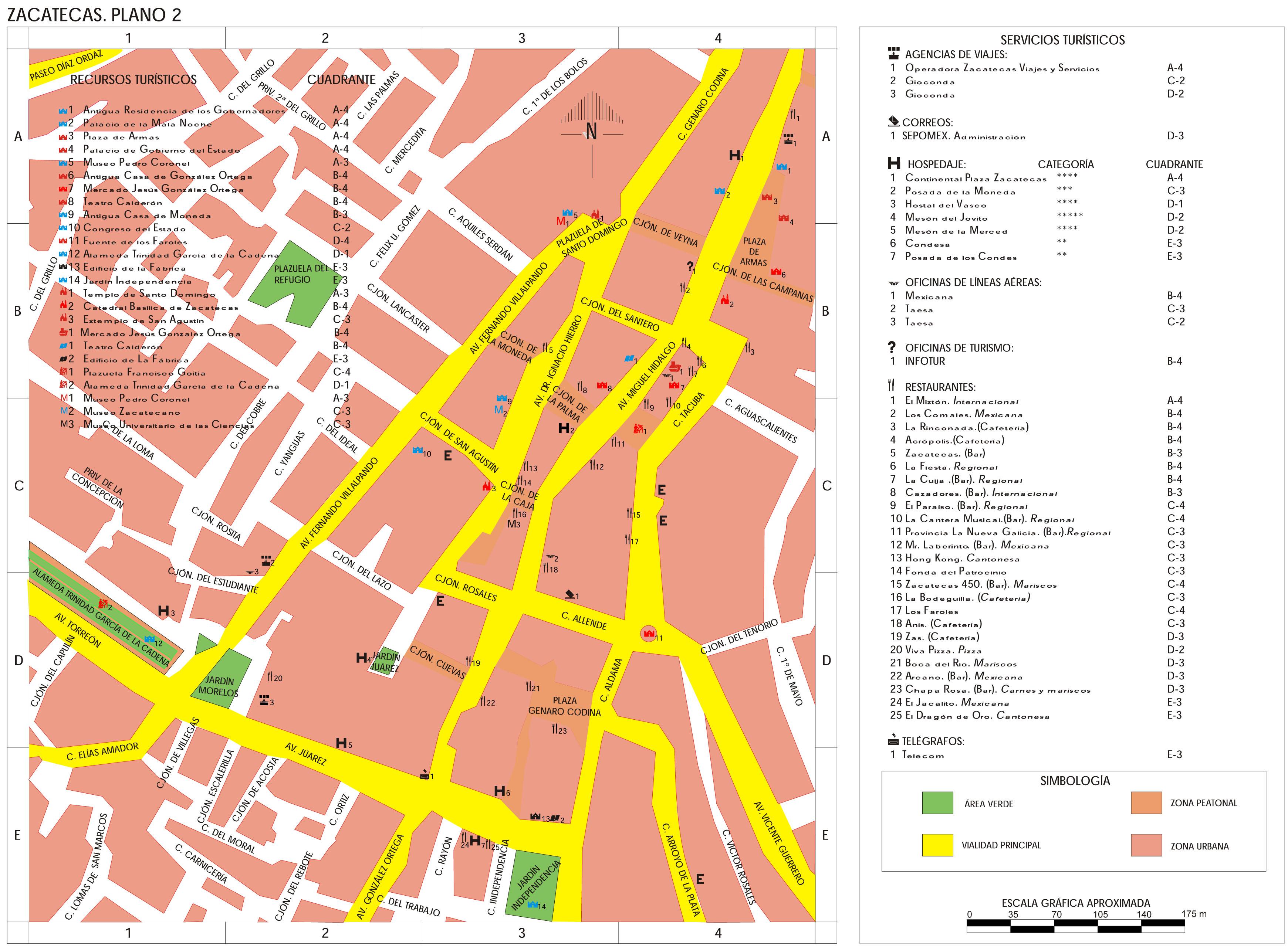Mapa de la Ciudad de Leon Gto Mapa de la Ciudad de Zacatecas