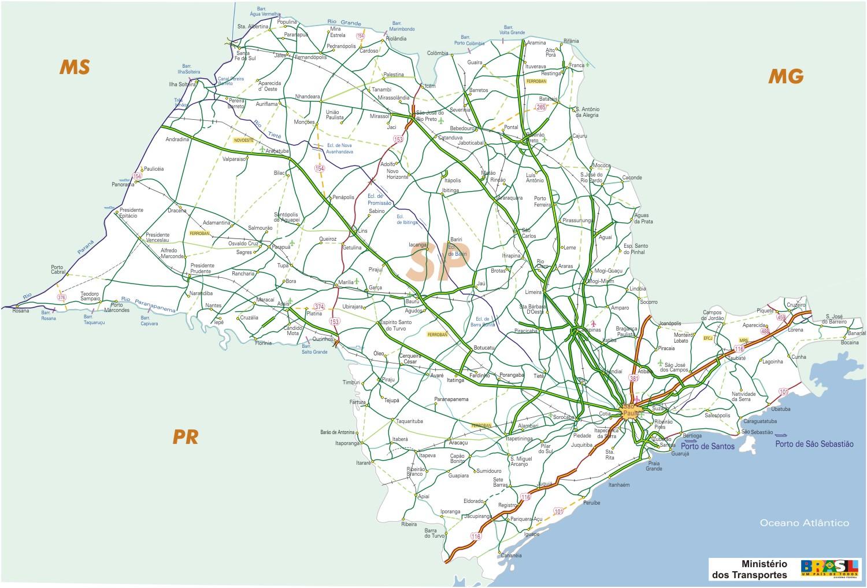 Sao Paulo State Map.Sao Paulo State Map