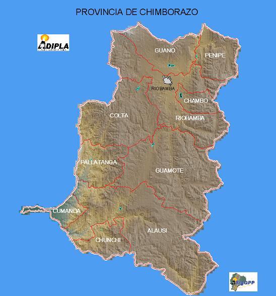 Mapa físico de Chimborazo
