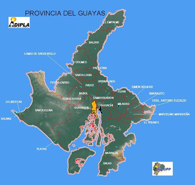 cantones guayas ecuador:
