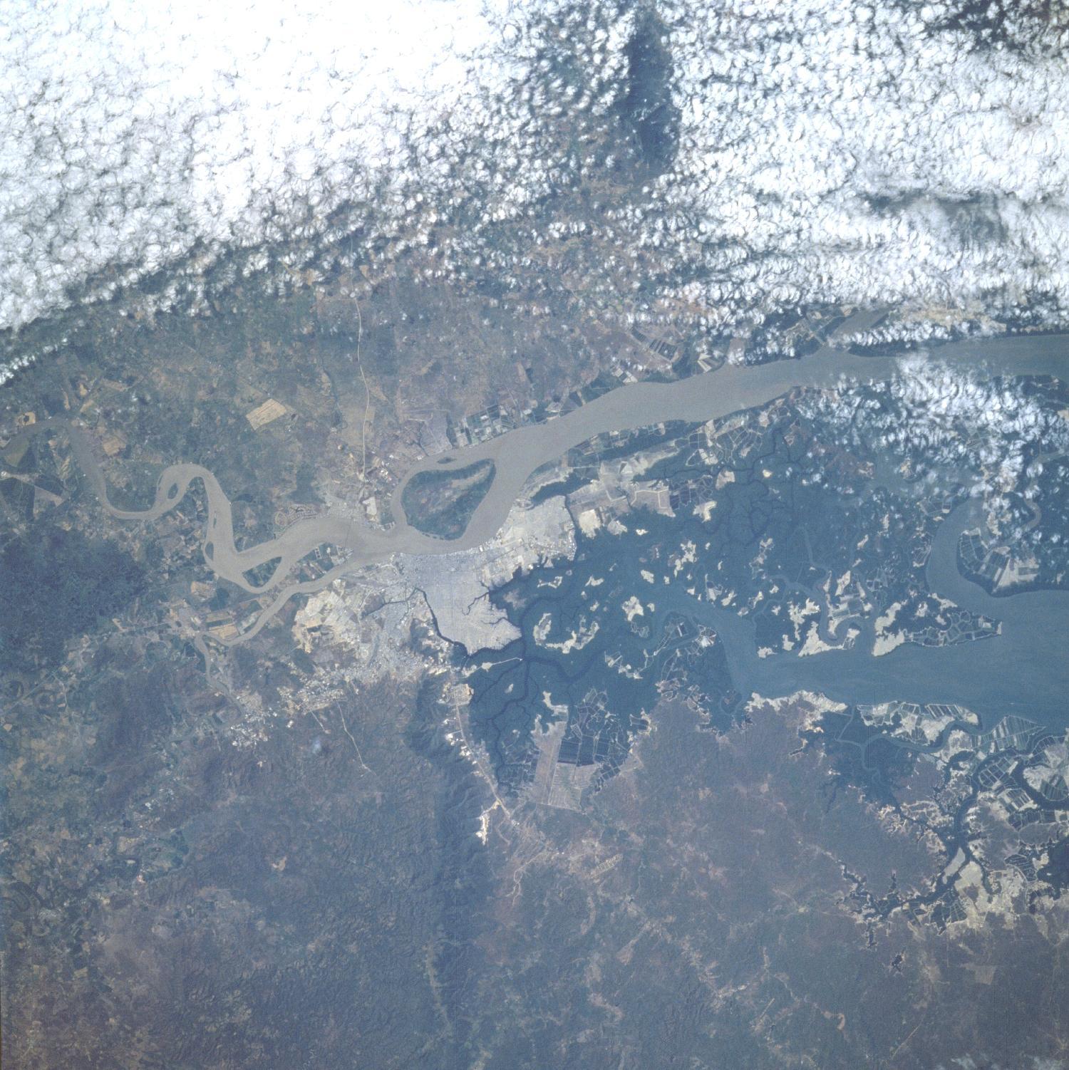 Imagen satelital de Guayaquil