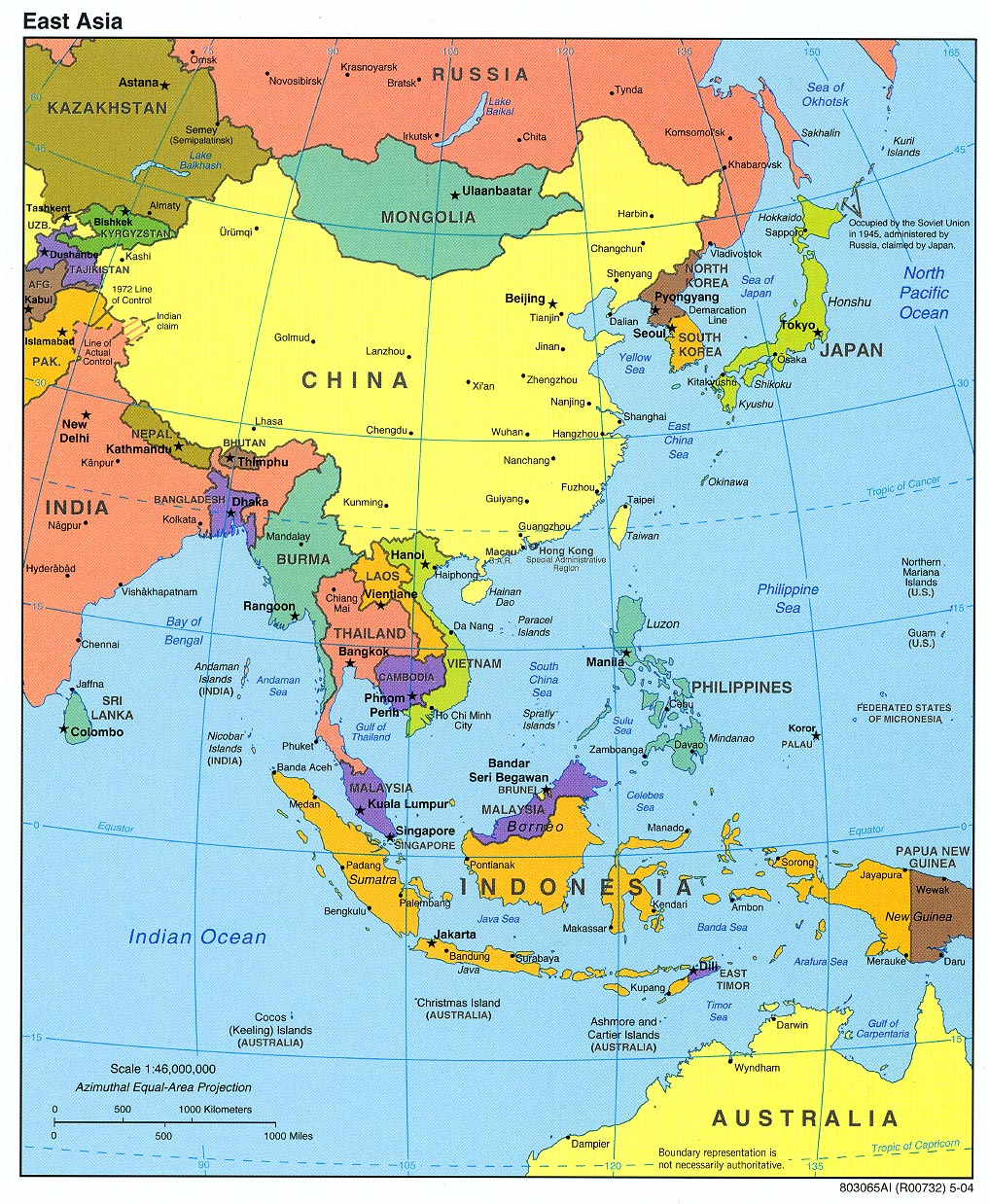 Map of asia borderless asia map Countries in NanoPics