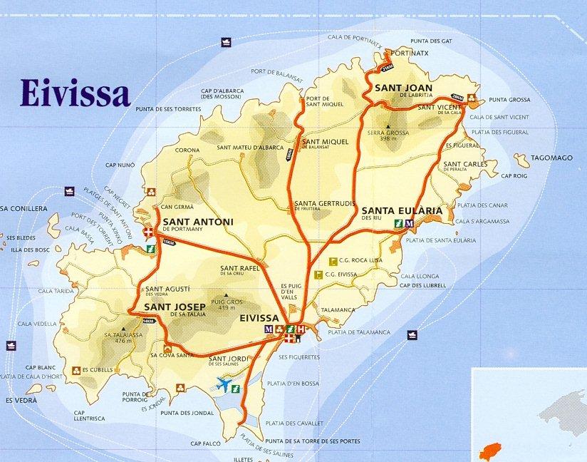 Mapa de carreteras de Isla ...