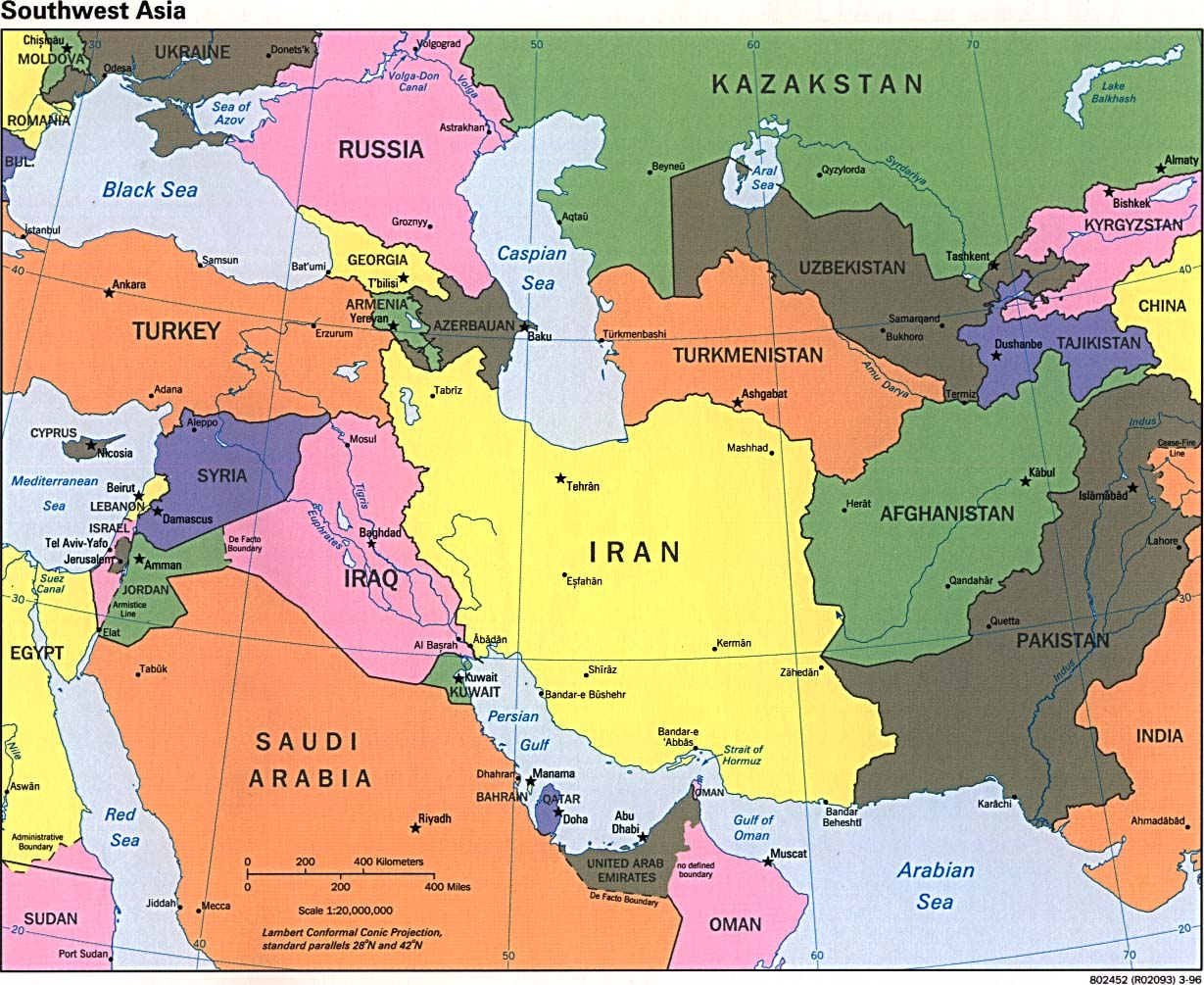 West Asia Map New Calendar Template Site
