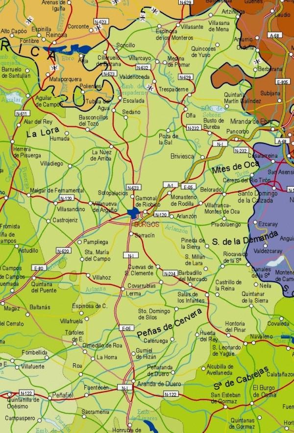 Burgos Spain  city photos gallery : Burgos Spain Map Map of Burgos Province