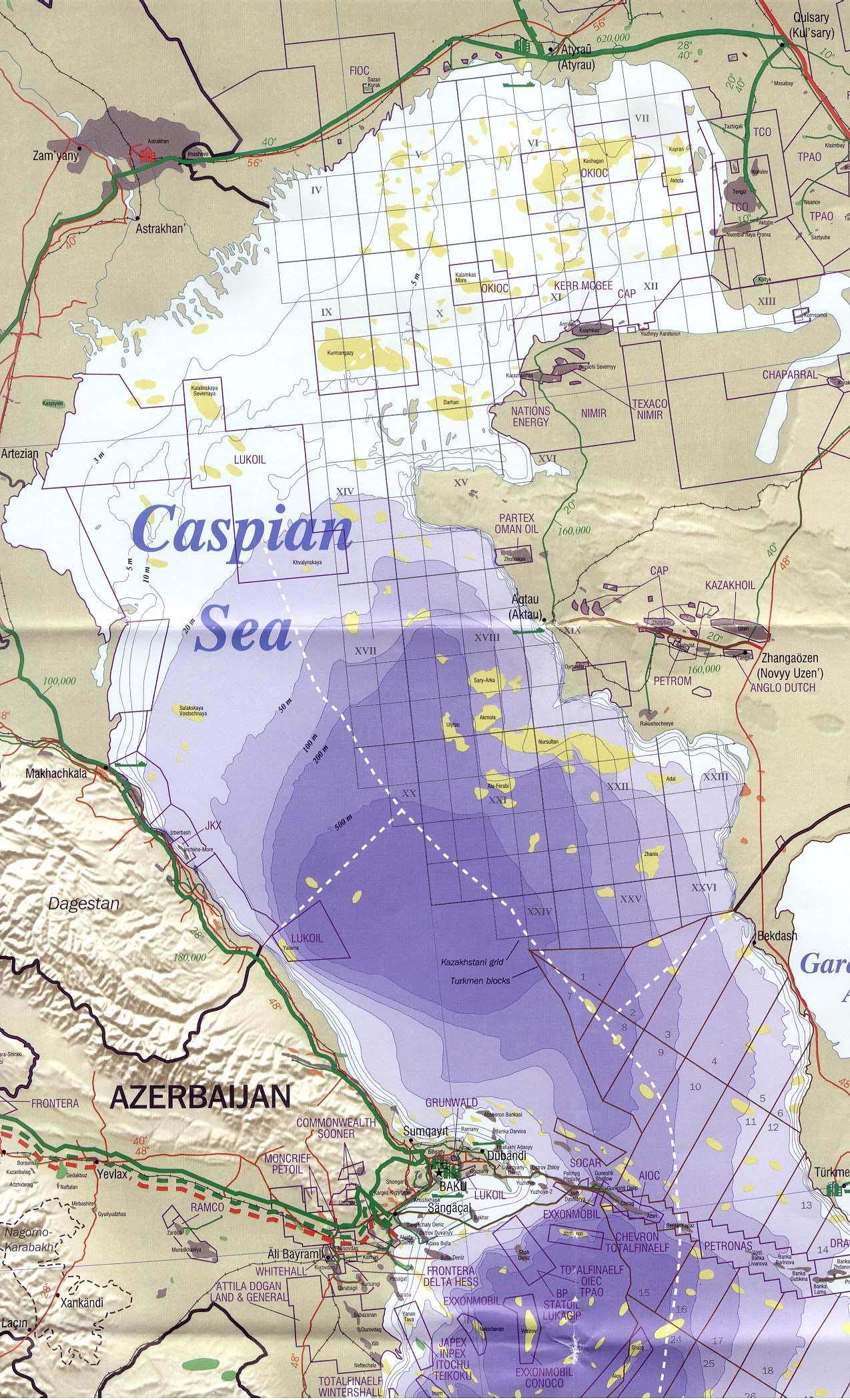 Región del norte del mar caspio 2001