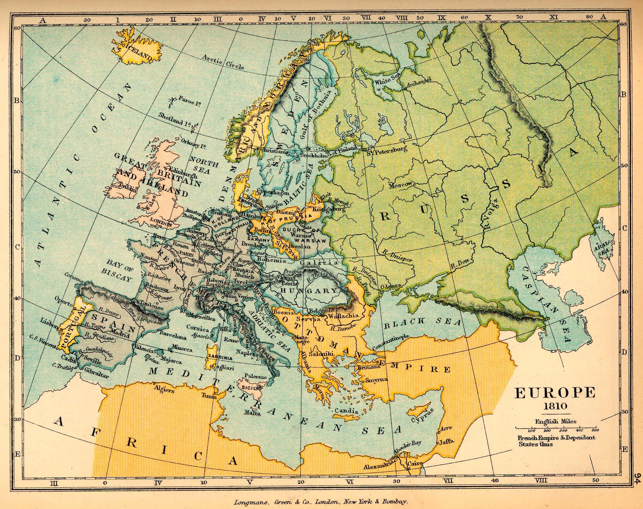 Europe in 1810 - Full ...