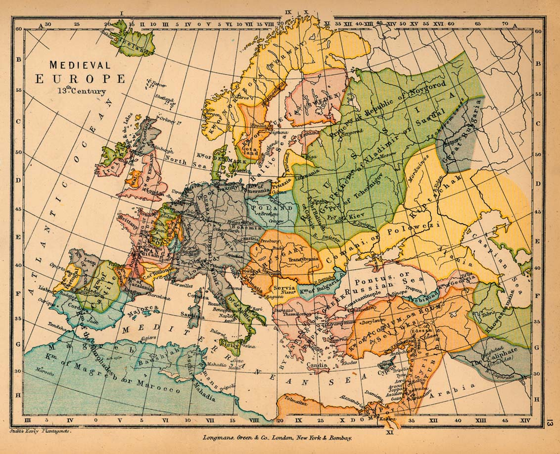 Medieval Europe in the 13th Century - Full size