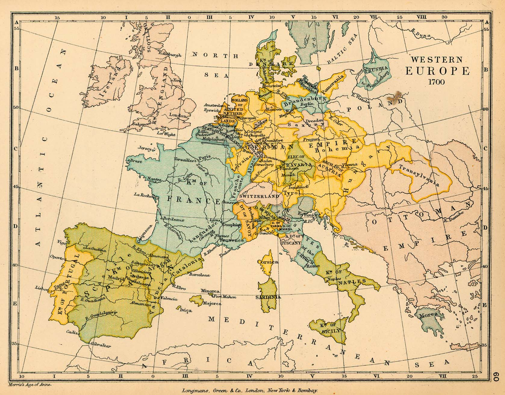 Western Europe in 1700 Full size