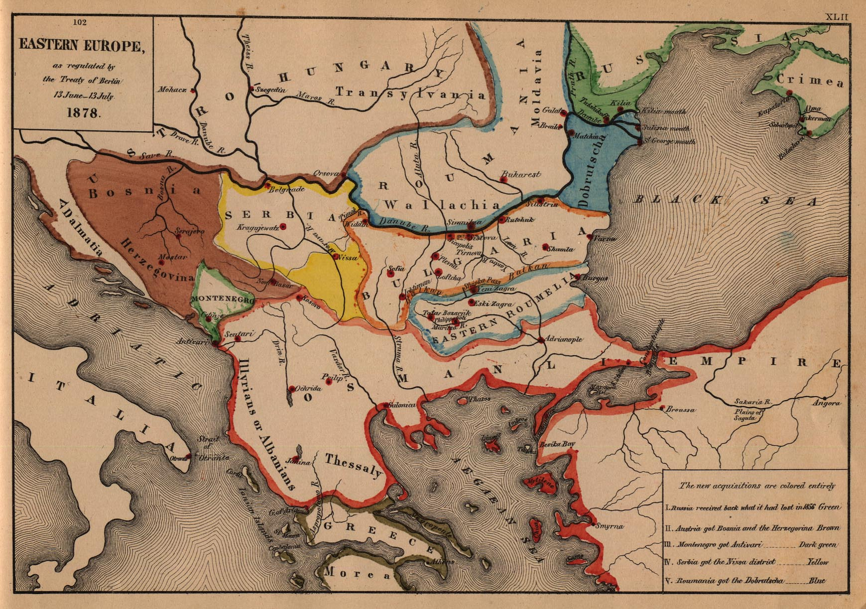 Eastern Europe Map 1878 Full size