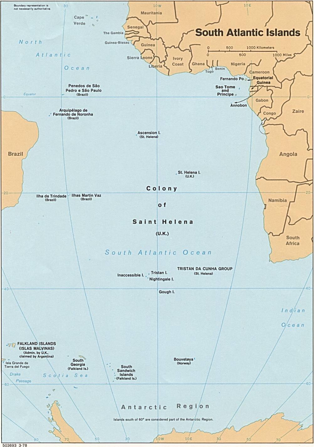 South Atlantic Islands - Full size