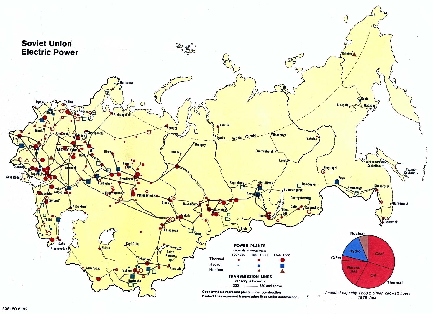 Electric Energy Former Soviet Union 1982 - Full size