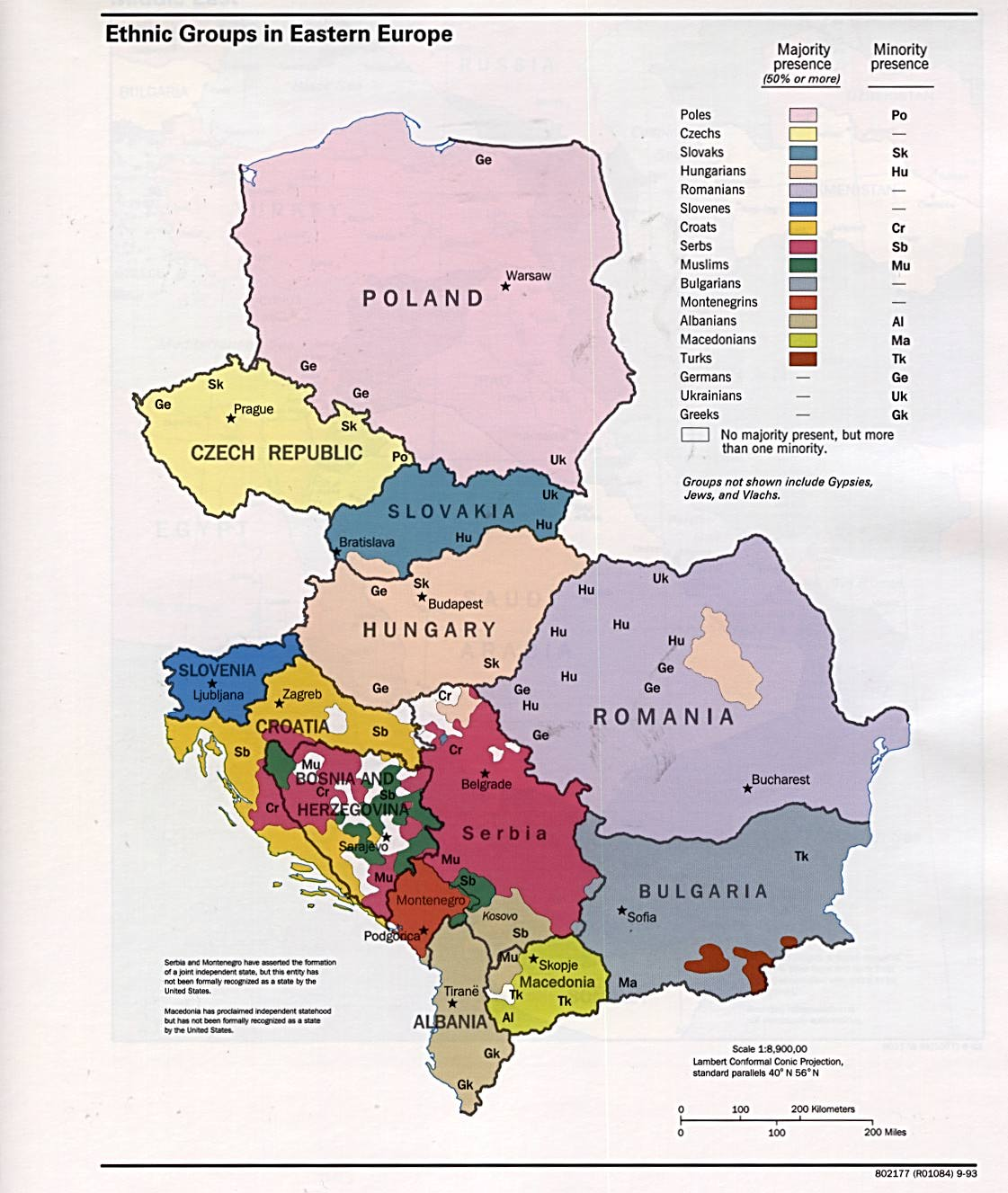 Ethnic groups in Eastern Europe 1993 - Full size