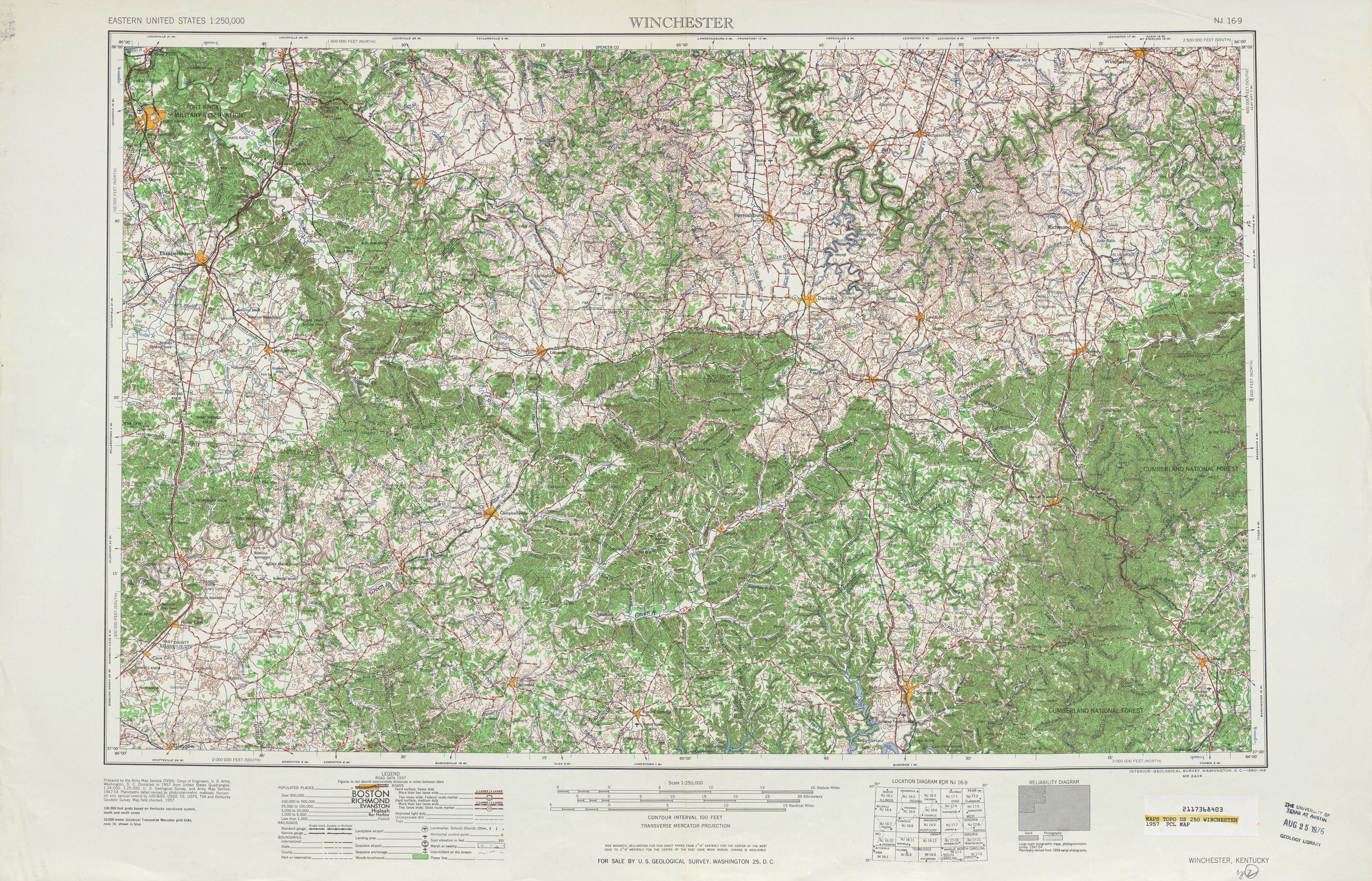 Winchester (KY) United States  city pictures gallery : ... United States :: Winchester Topographic Map Sheet, United States 1957