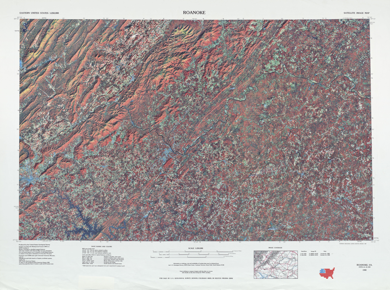 Roanoke (VA) United States  city photos : ... United States :: Roanoke Satellite Image Sheet, United States 1980