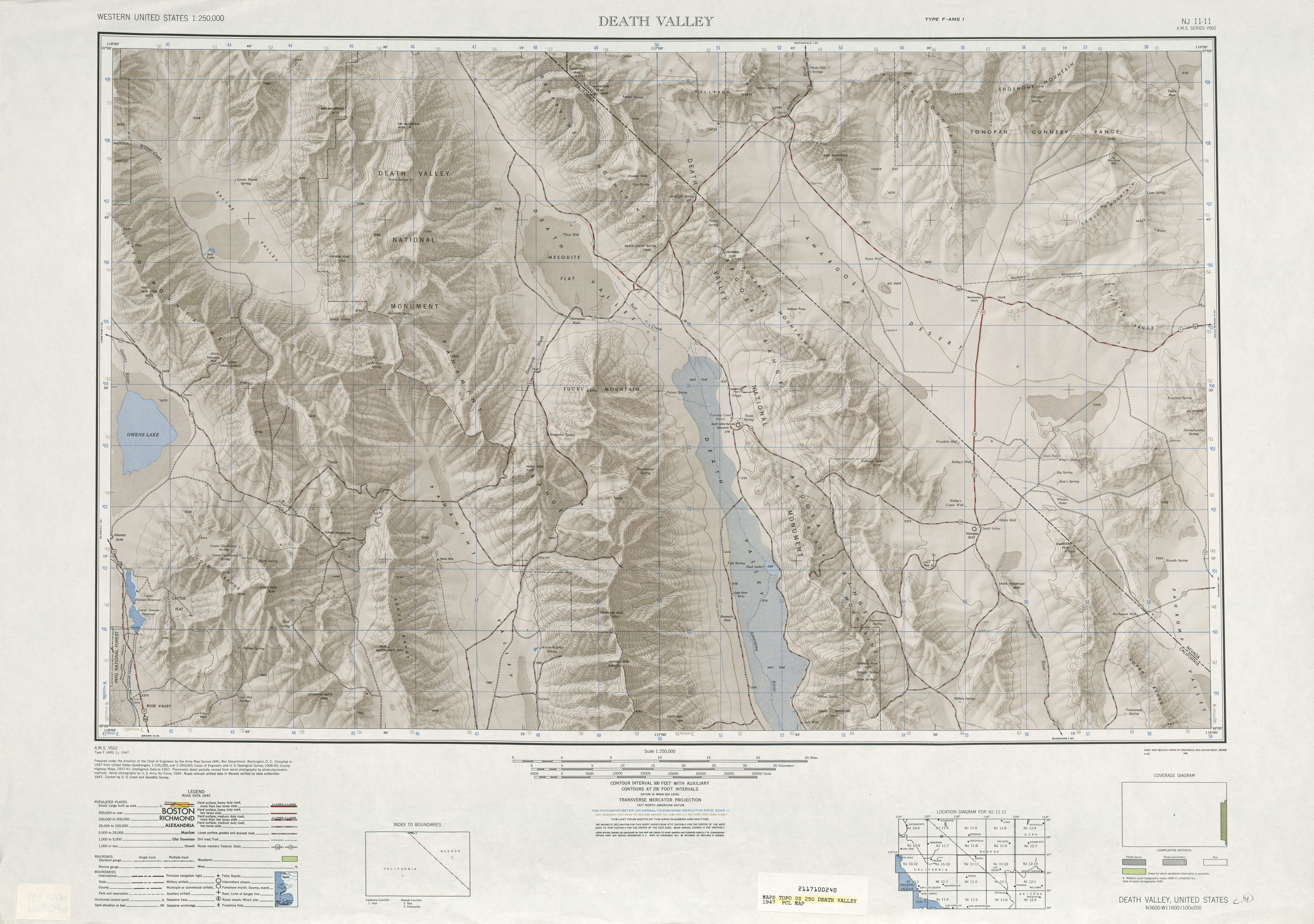 United States Map With Death Valley Death Valley Shaded Relief Map