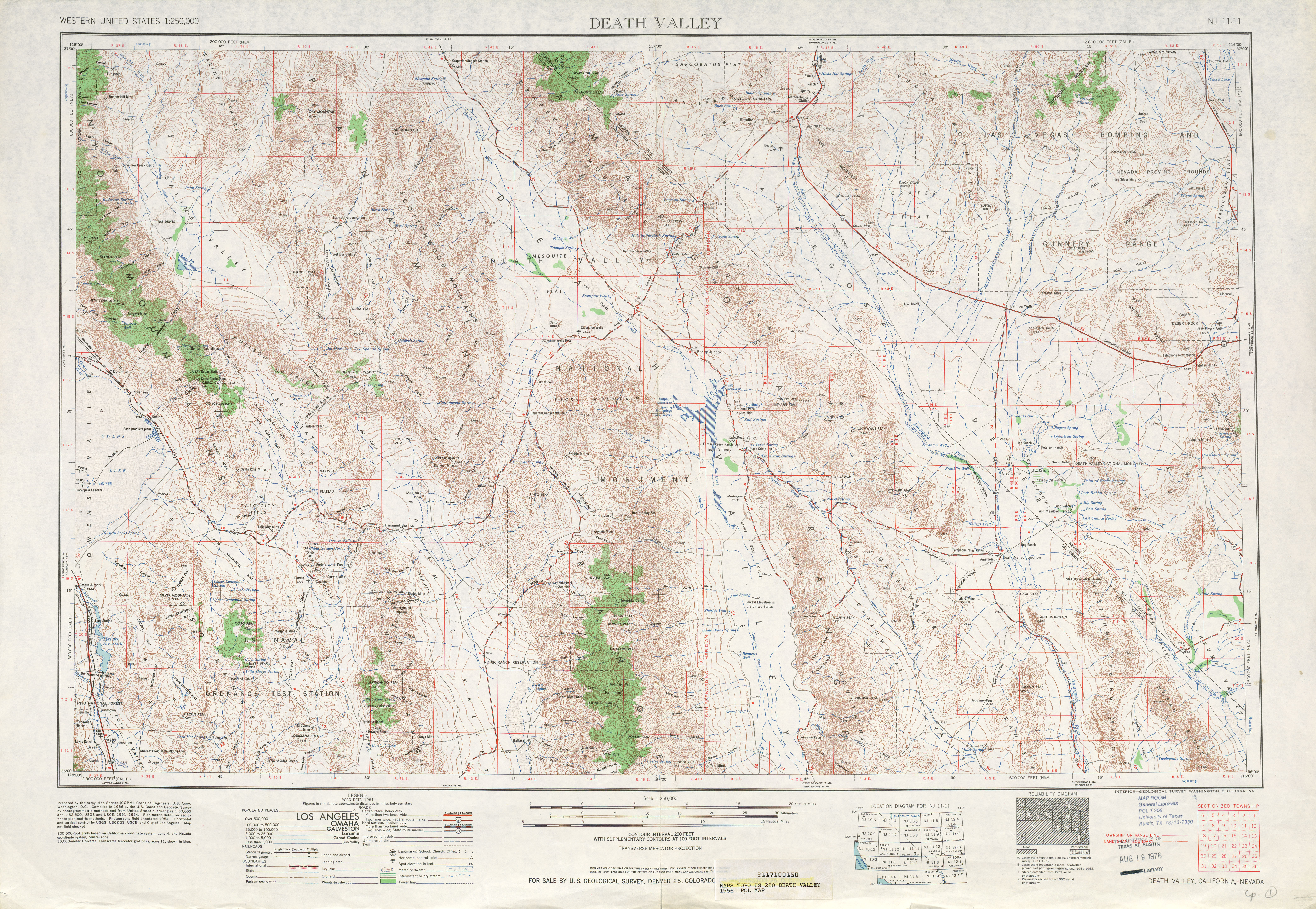 United States Map With Death Valley Death Valley Topographic Map