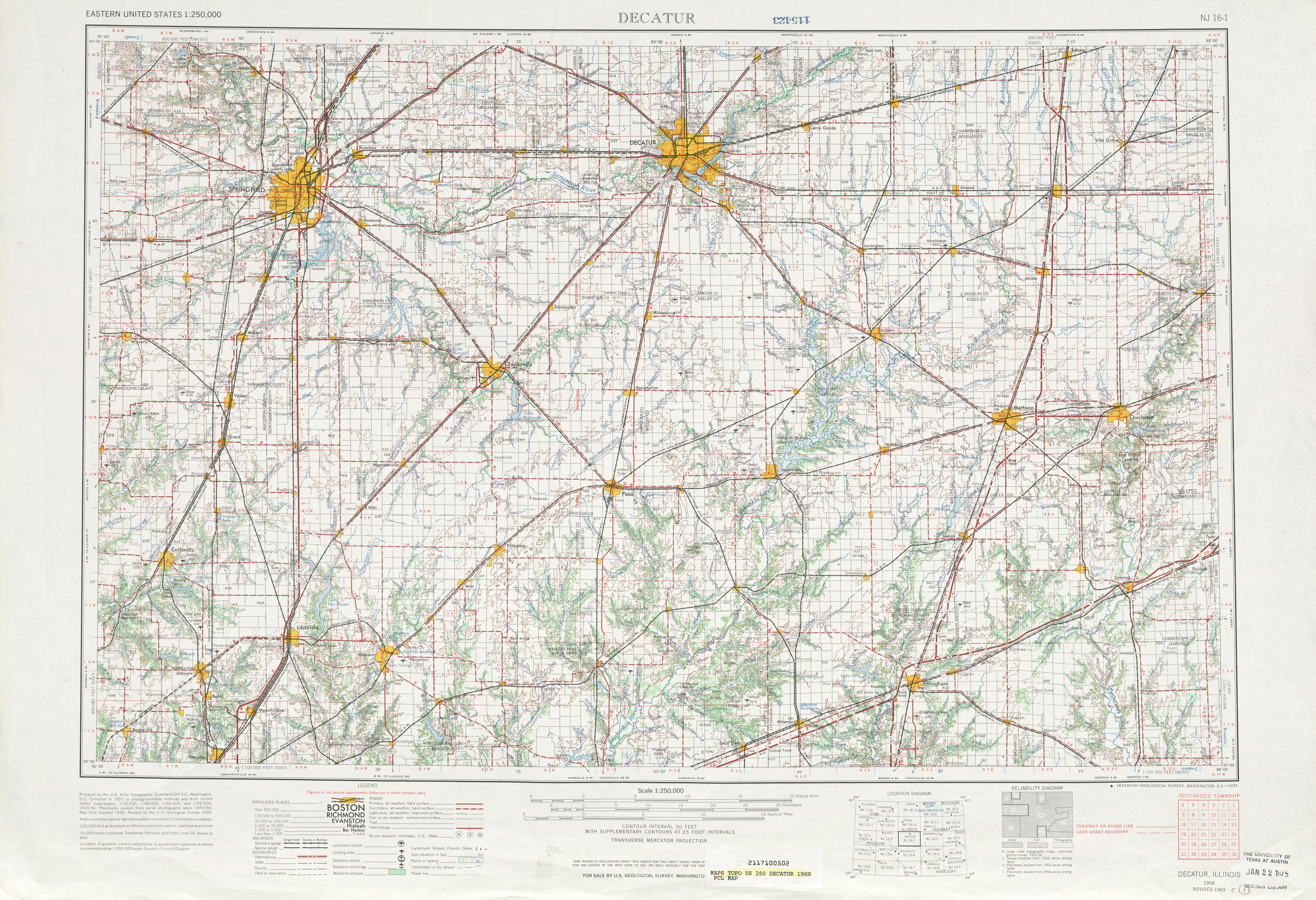 Decatur (IN) United States  city photo : ... United States :: Decatur Topographic Map Sheet, United States 1969