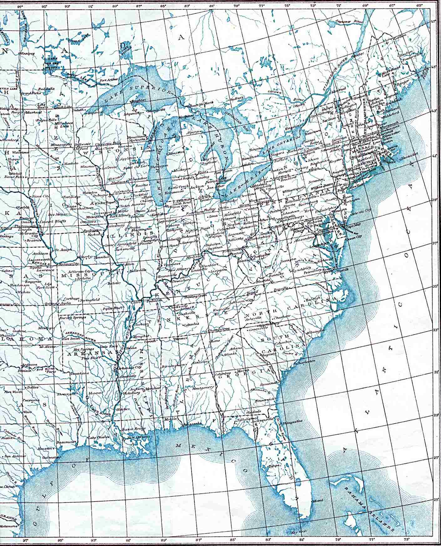 Ne Us States Map Globalinterco - Lines us map