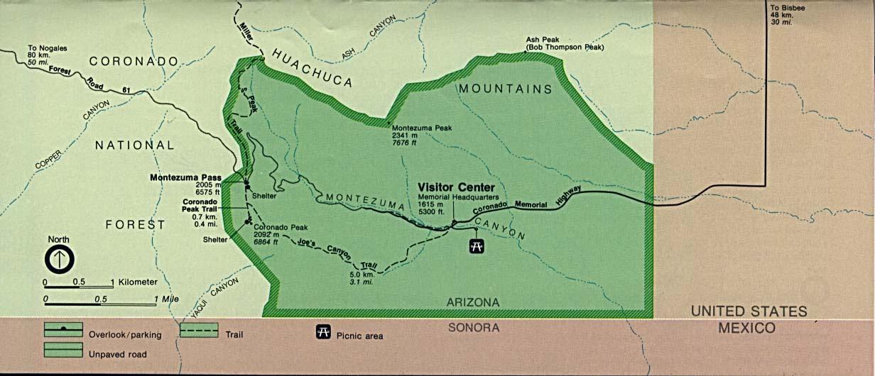 Coronado (CA) United States  city pictures gallery : Coronado National Memorial Area Map, Arizona, United States Full ...