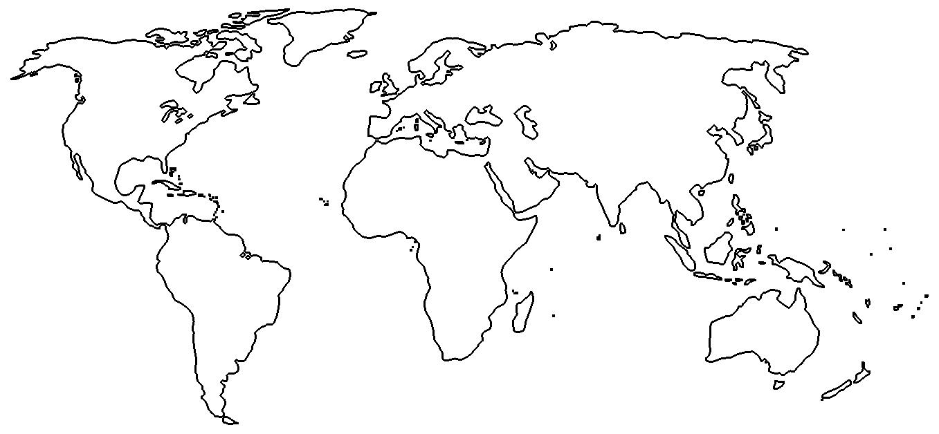 World outline map - Full size