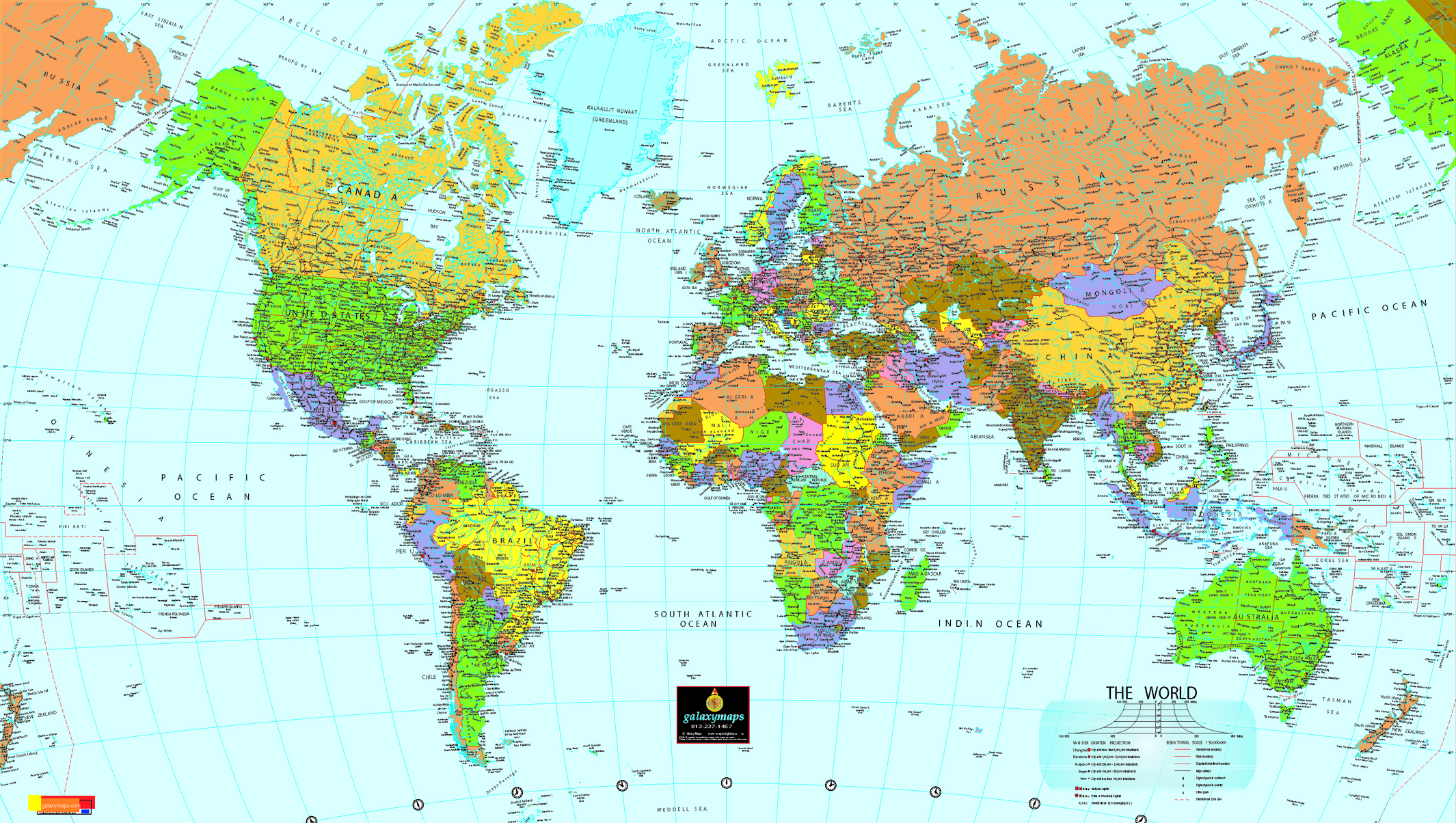 World Political Map Full Size
