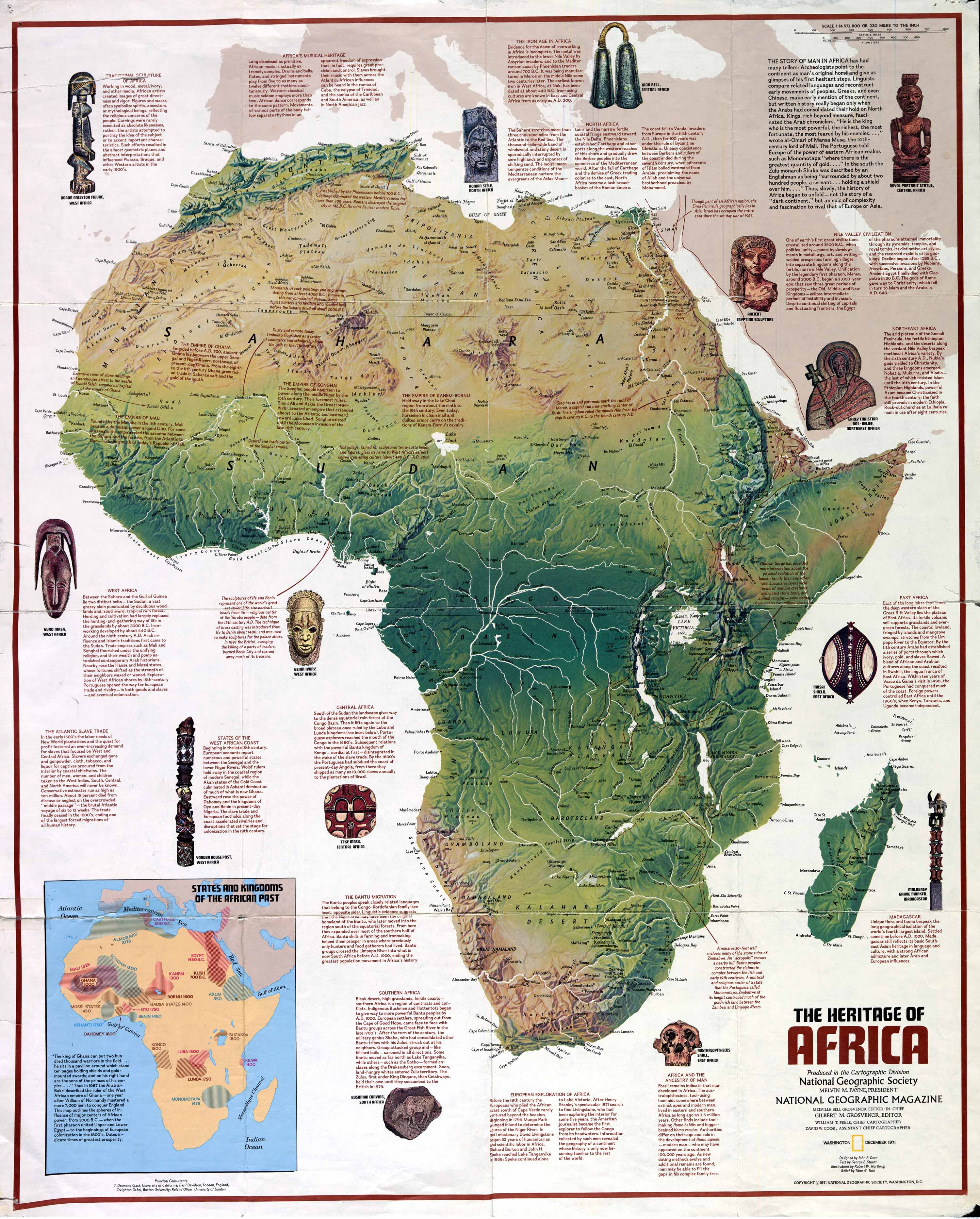 Physical Features Africa Map Africa Physical Features Map