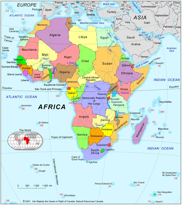 Africa+map+countries+and+ and