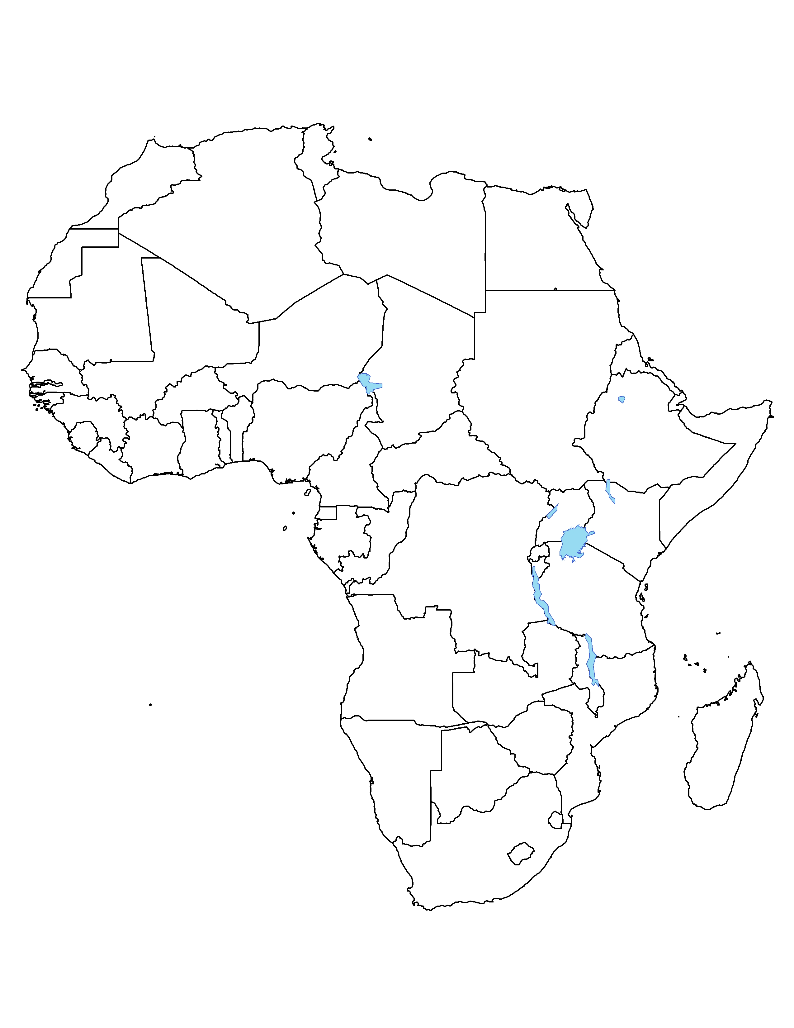 Outline Map Africa And Asia
