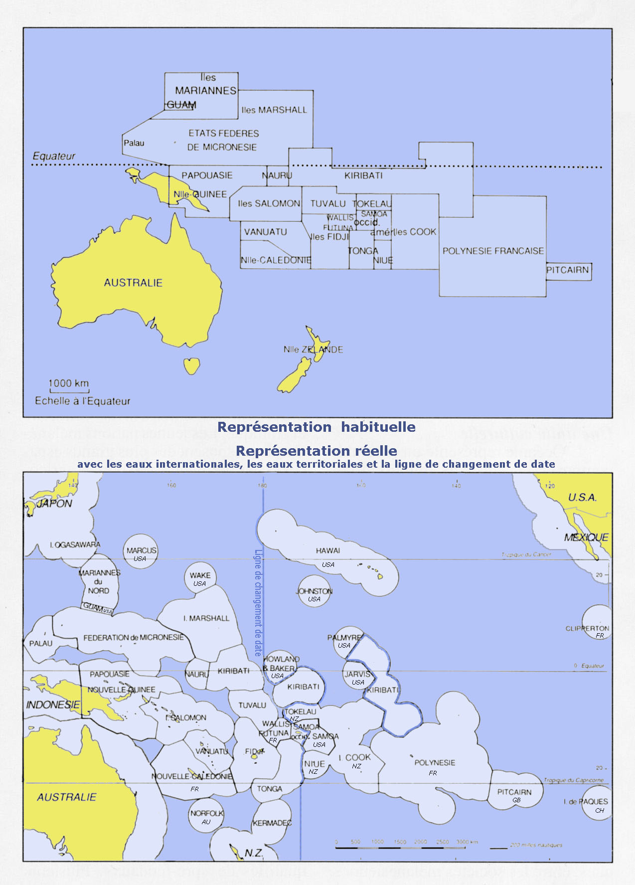 Map of Oceania Countries Only