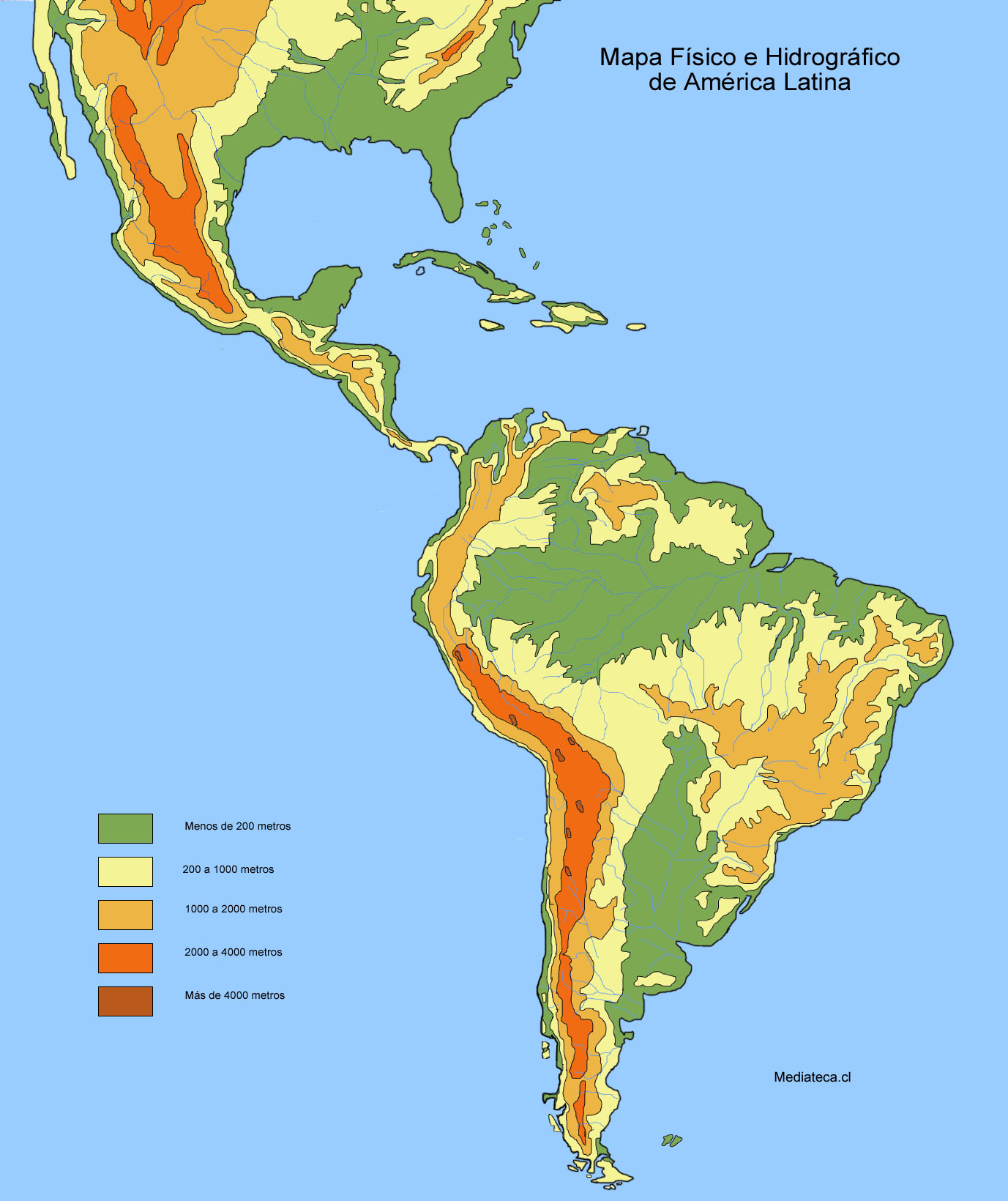 Latin America and South America Map