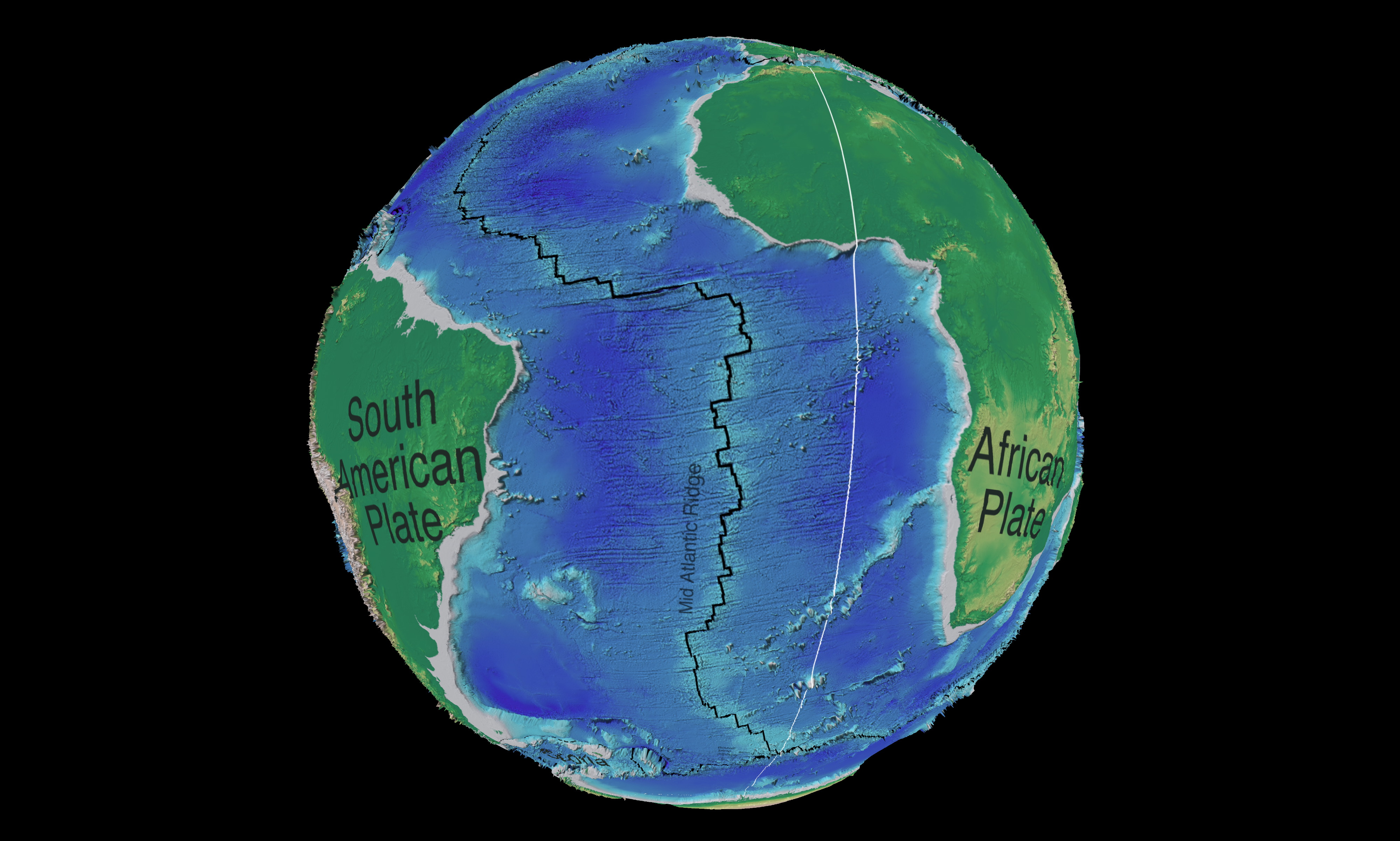 Mid Atlantic Ridge The mid-atlantic ridge (mar) Pacific Ocean Underwater Map