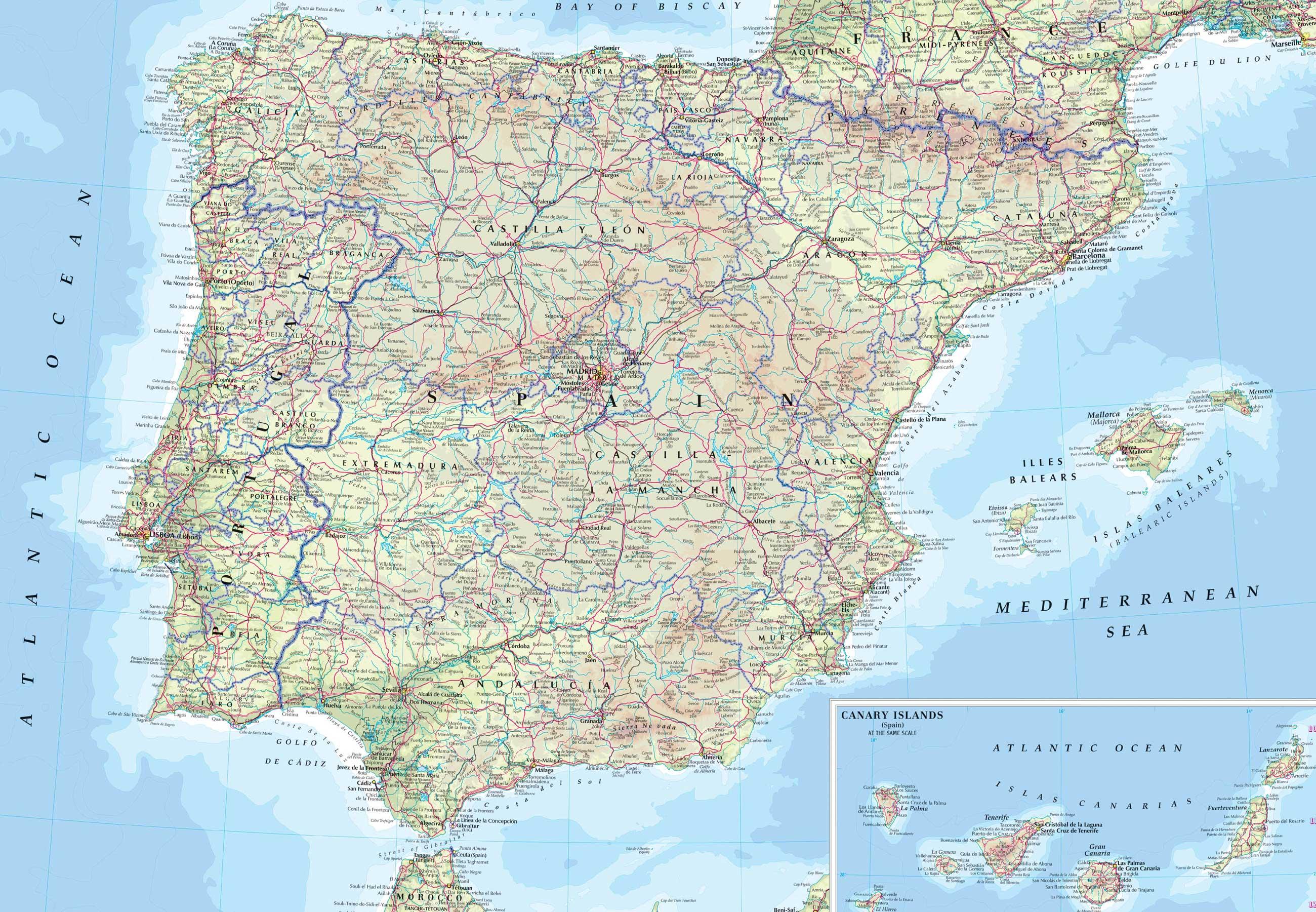 Coches Manuales Mapa De Carreteras De Portugal