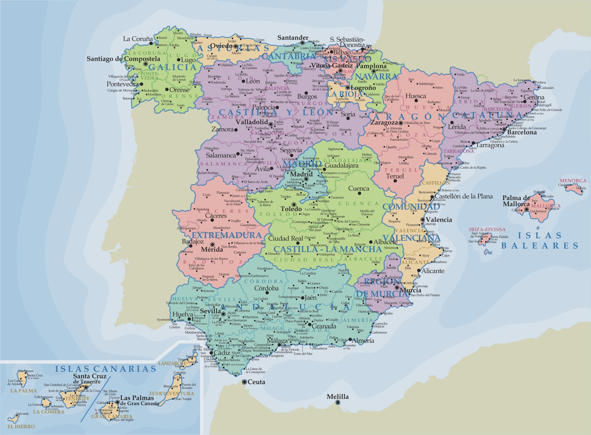 Mapa De España - Imagenes Es