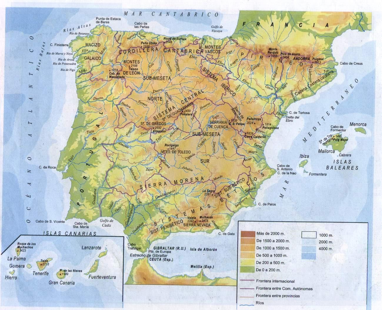 Resultado de imagen de imagenes de mapas de españa politico