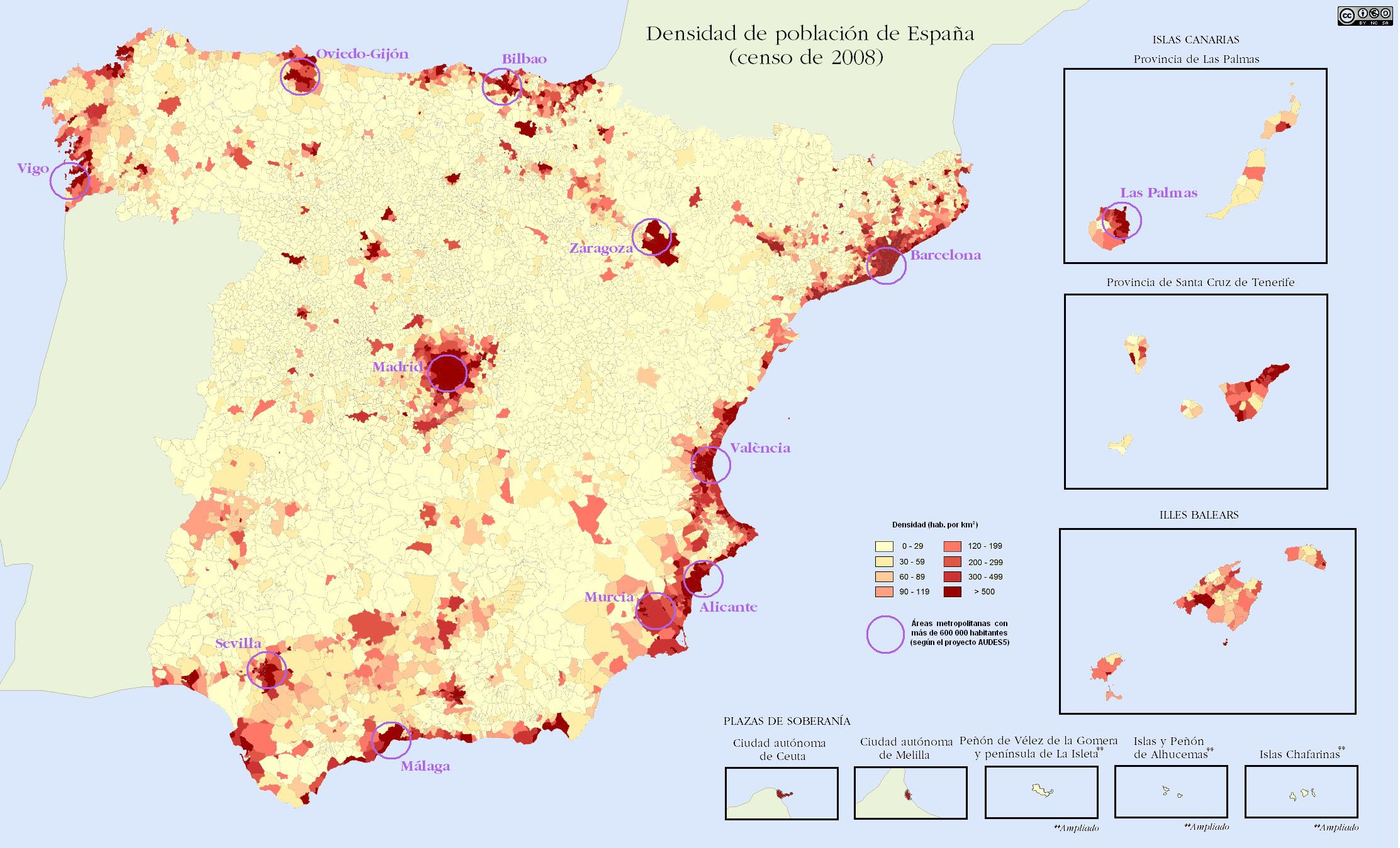 Densidad de poblaci n en espa a 2009 tama o completo - Graficas madrid palma ...
