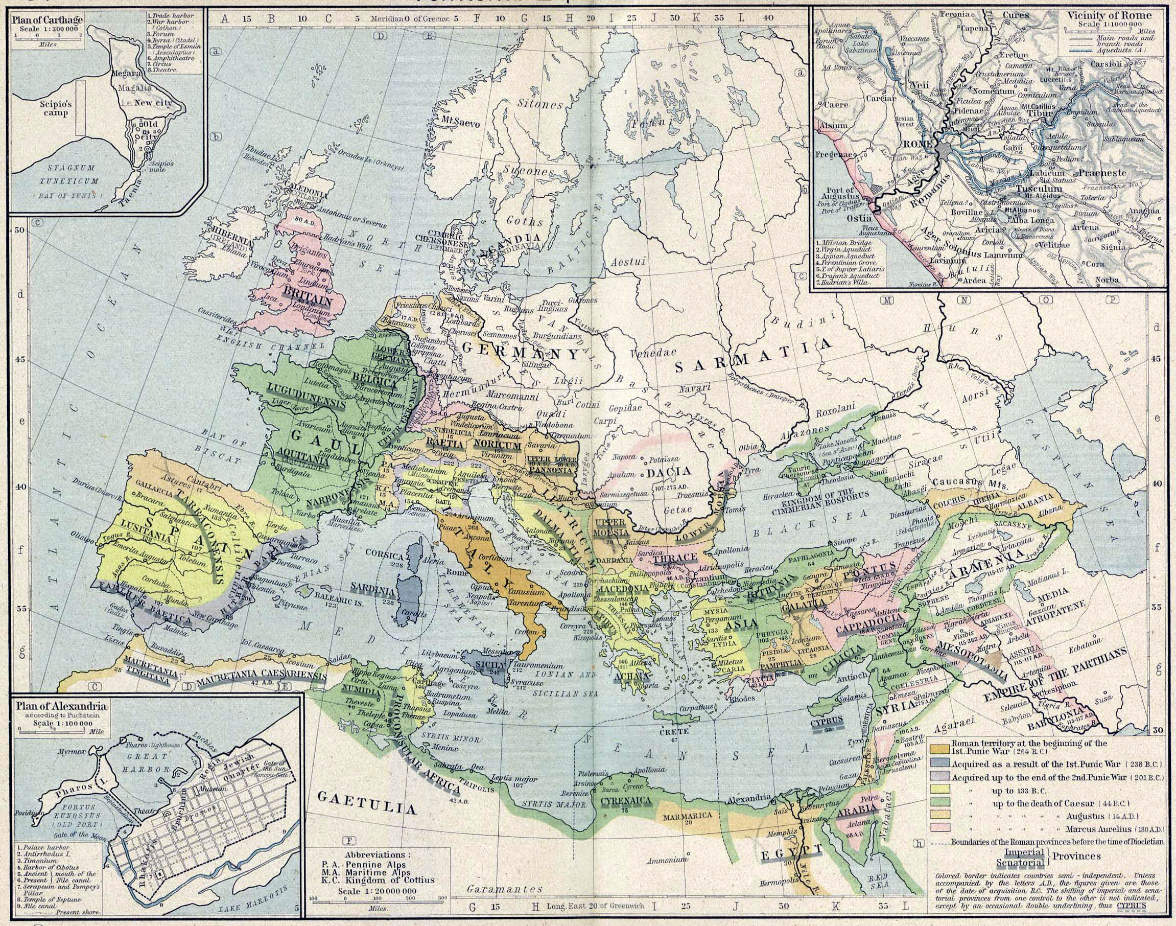 Rome Territorial Expansion 264 Bc 192 Dc Full Size