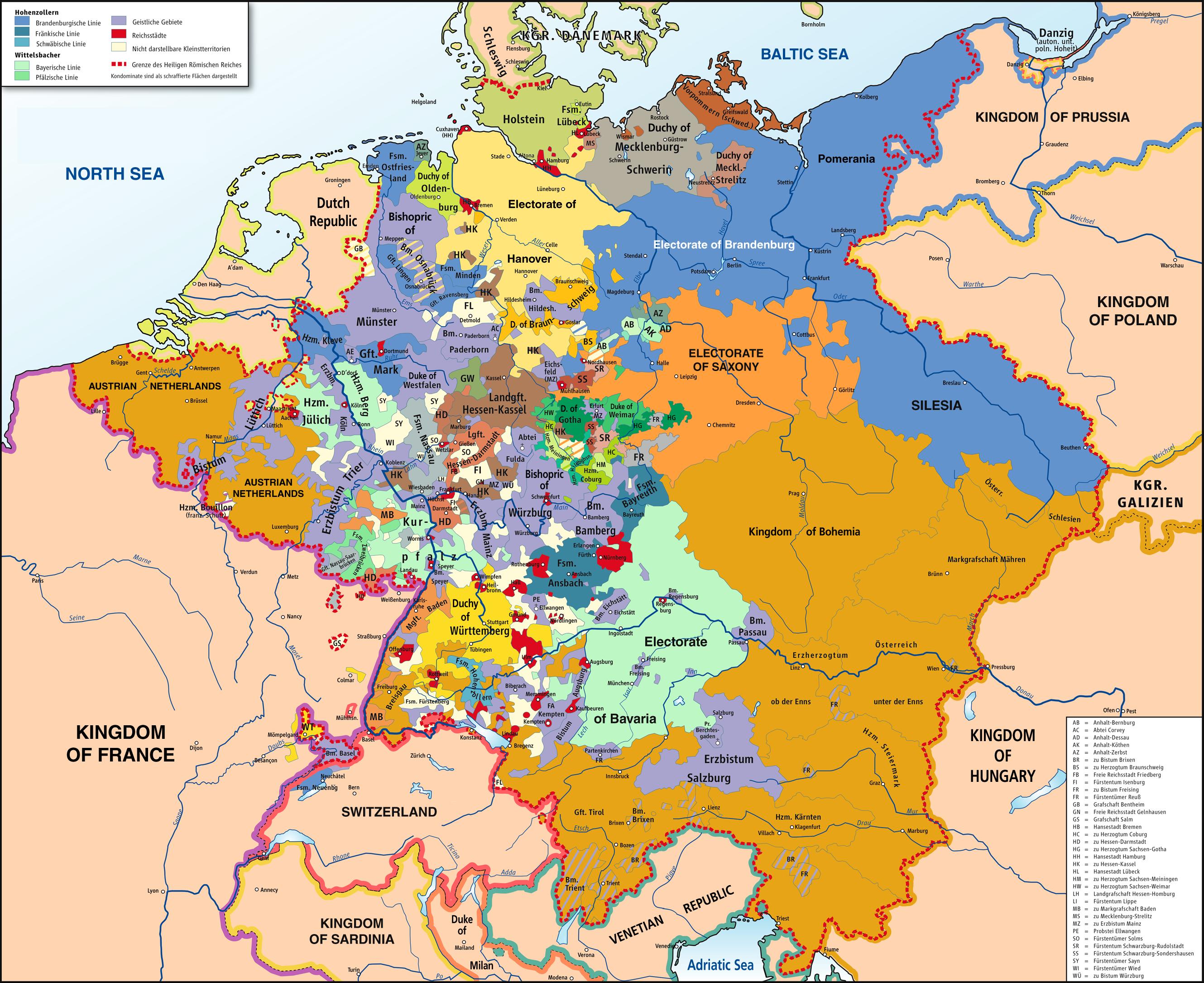 Holy Roman Empire World Map Holy Roman Empire 1789