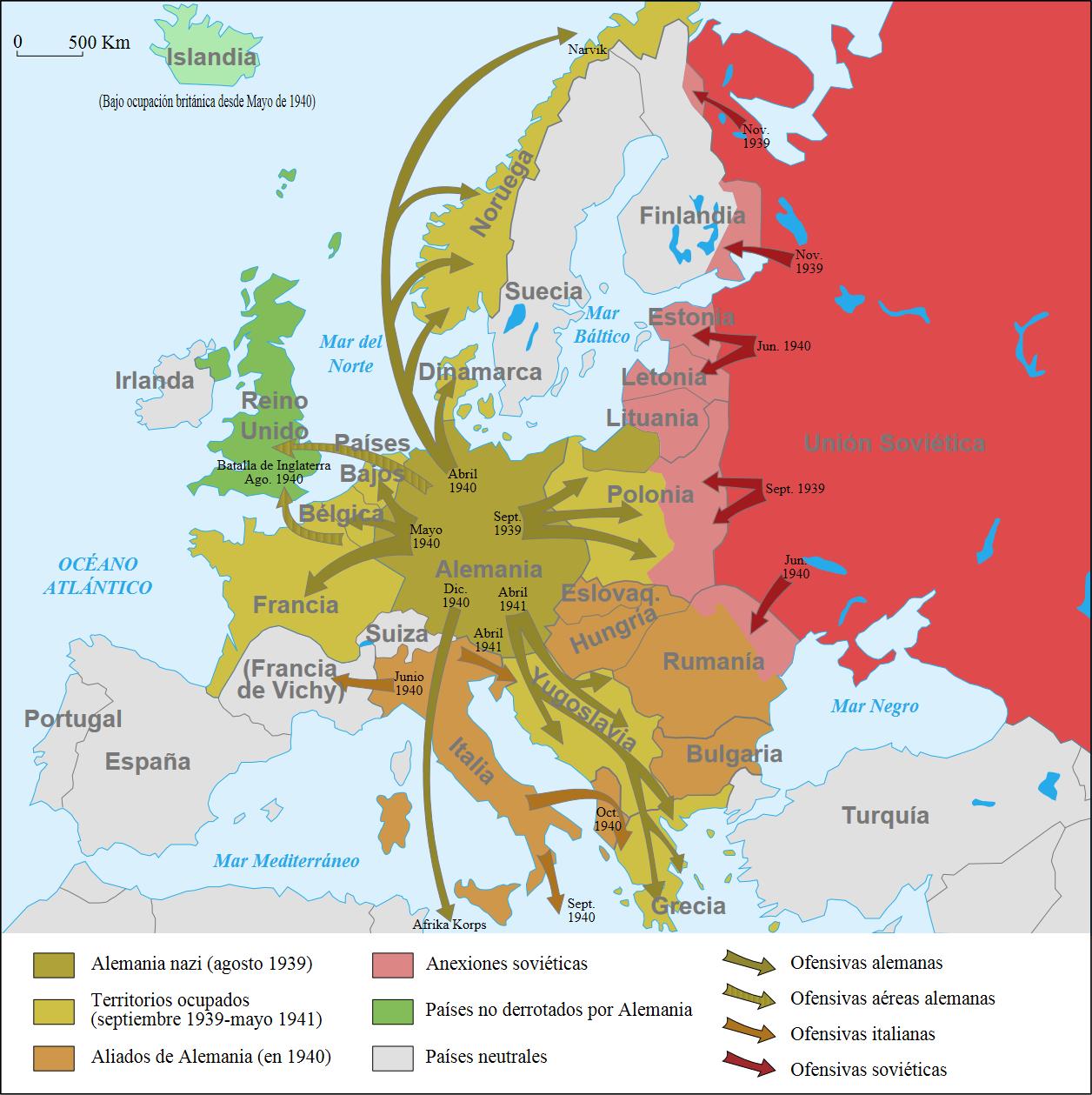 World War Ii In Europe 1939 1941 Full Size