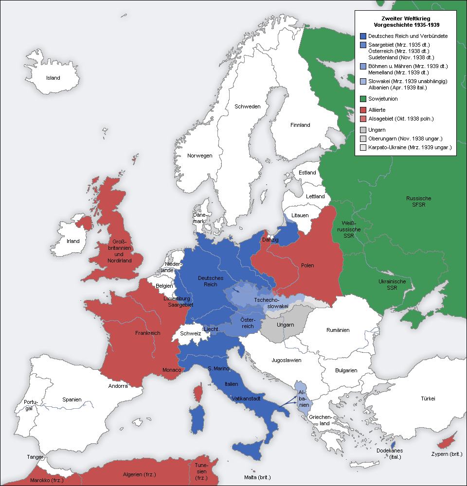 German and other axis conquests in blue in europe during world war
