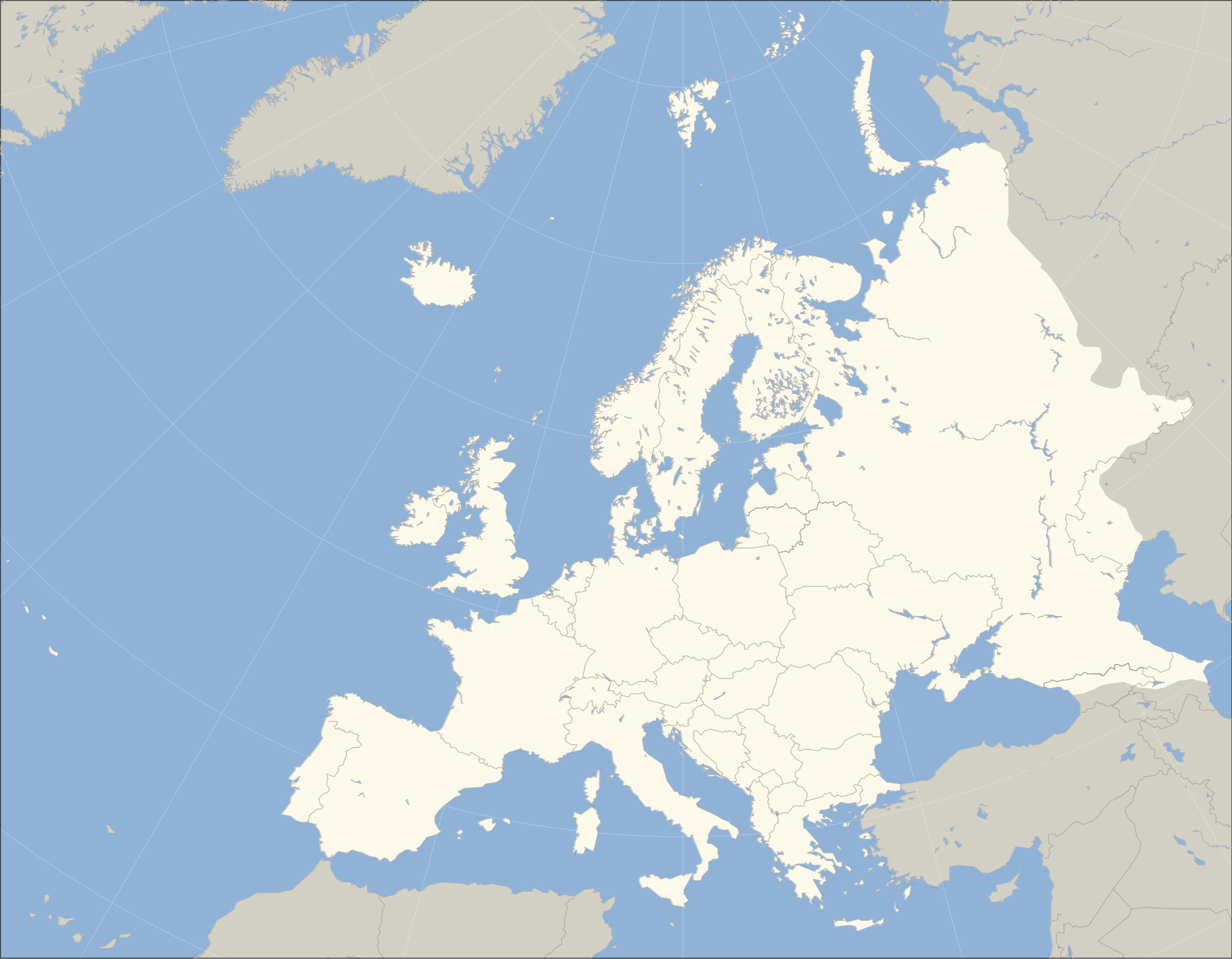 Europe outline map - F...